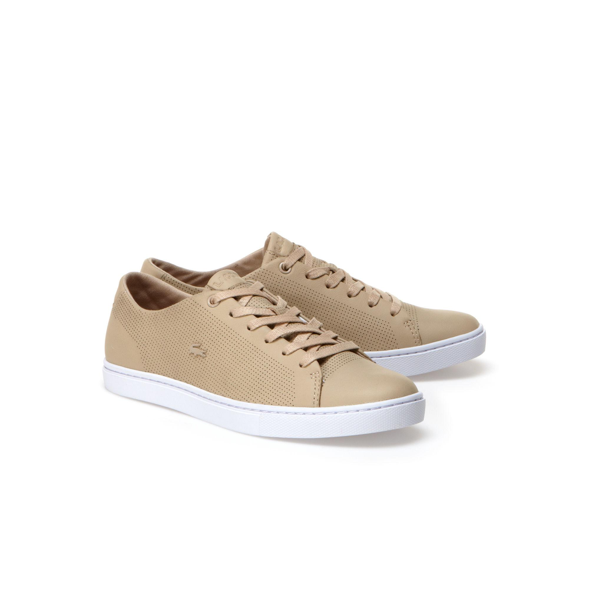 6d880d2589d91c Lacoste - Natural Showcourt Leather Sneakers - Lyst. View fullscreen