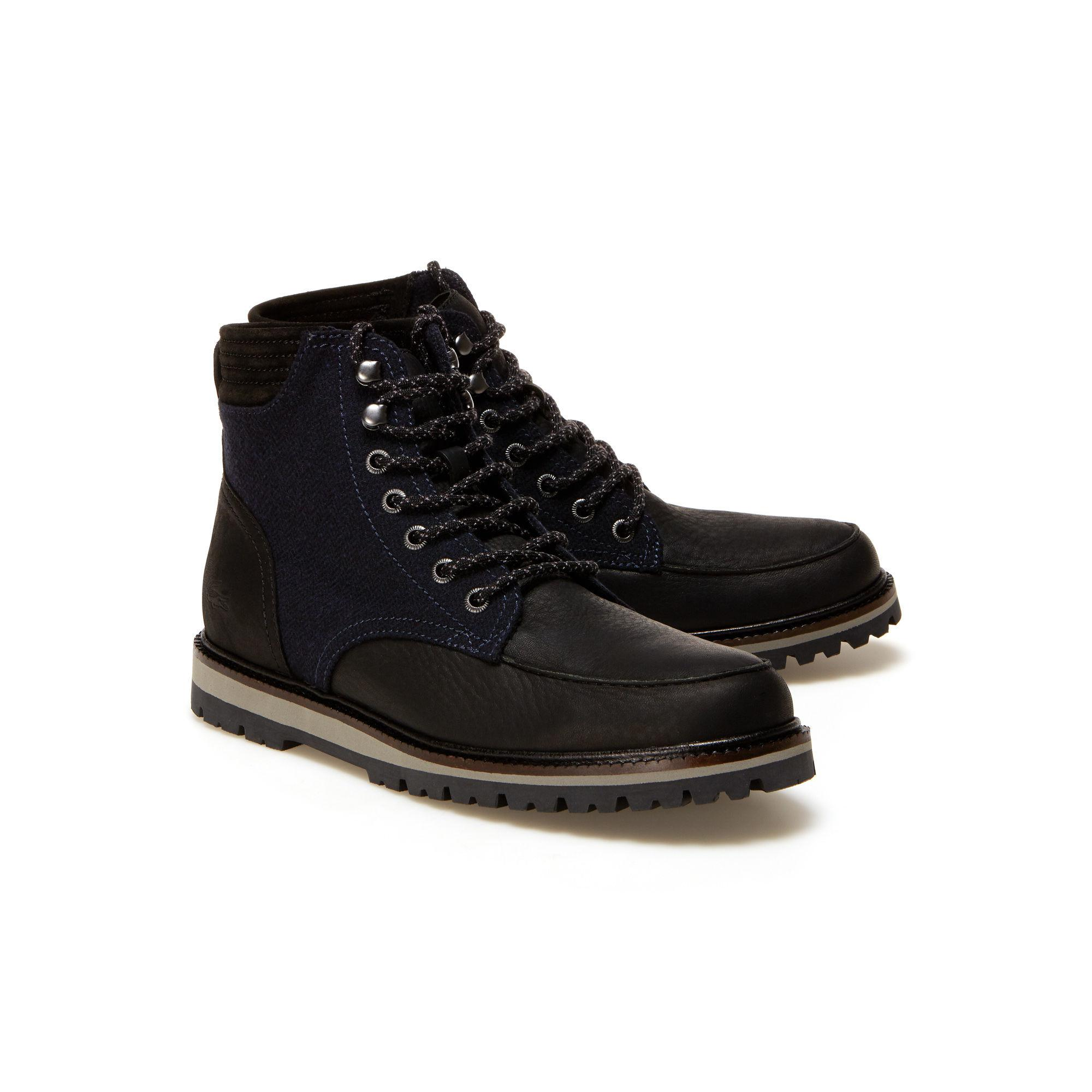 f4c4eab459cfb Lacoste - Black Leather Montbard Boots for Men - Lyst. View fullscreen