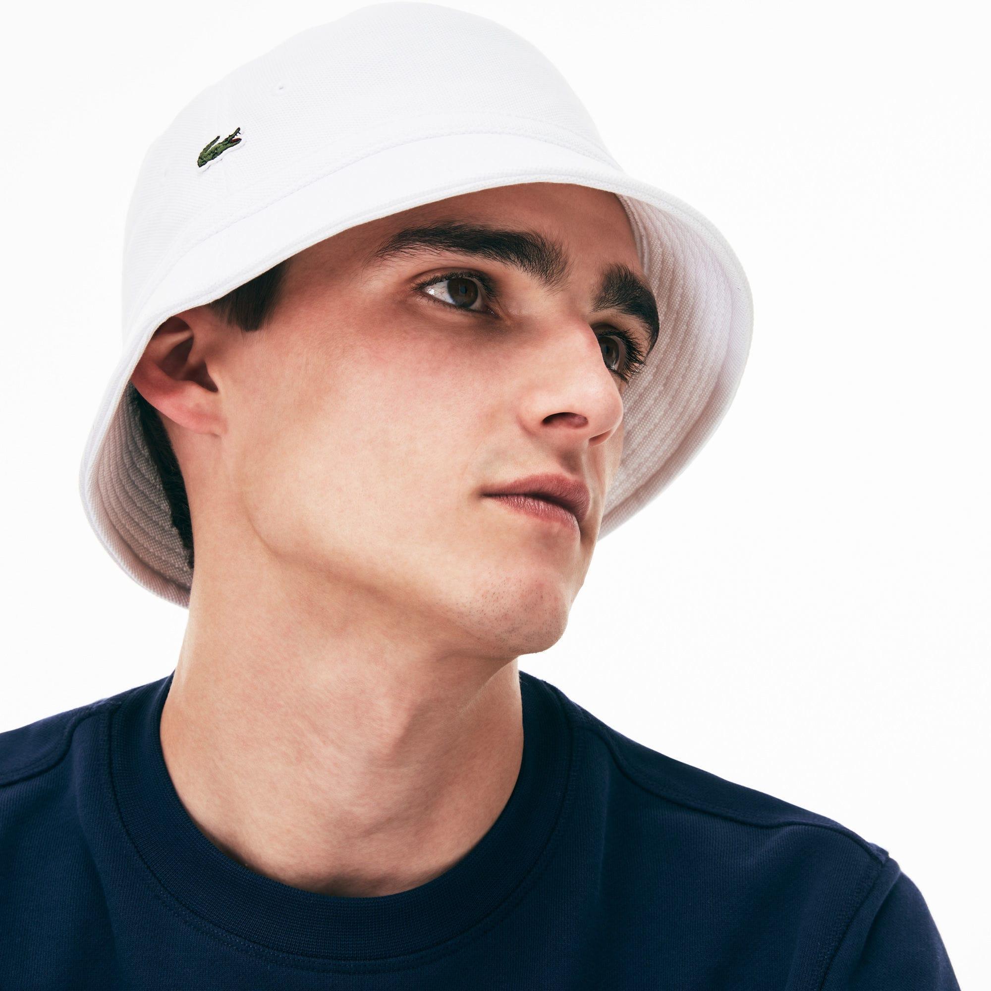 ada45c5f Lyst - Lacoste Cotton Piqué Bucket Hat in White for Men
