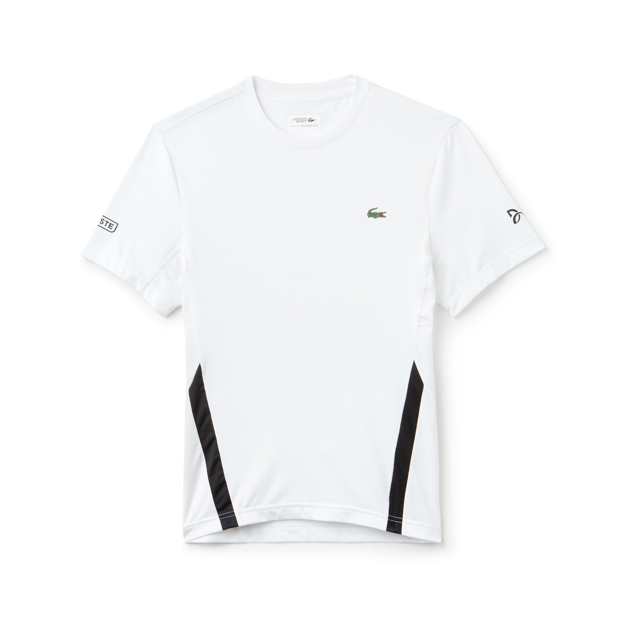 63da25178 Lacoste Sport Crew Neck Stretch Technical Jersey T-shirt - X Novak ...
