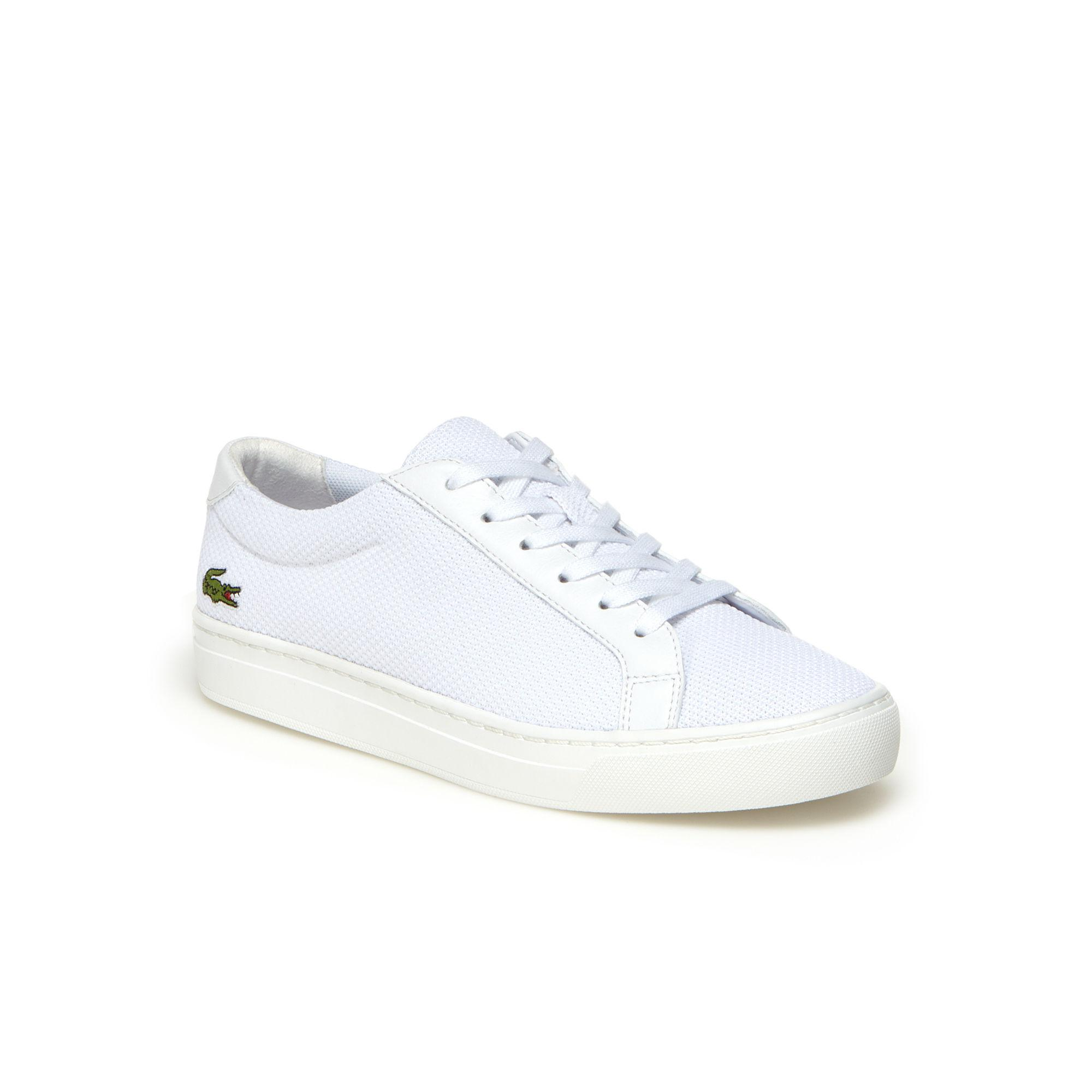 8a1f00433 Lacoste. Women s White Children s L.12.12 Bl Textile And Leather Trainers
