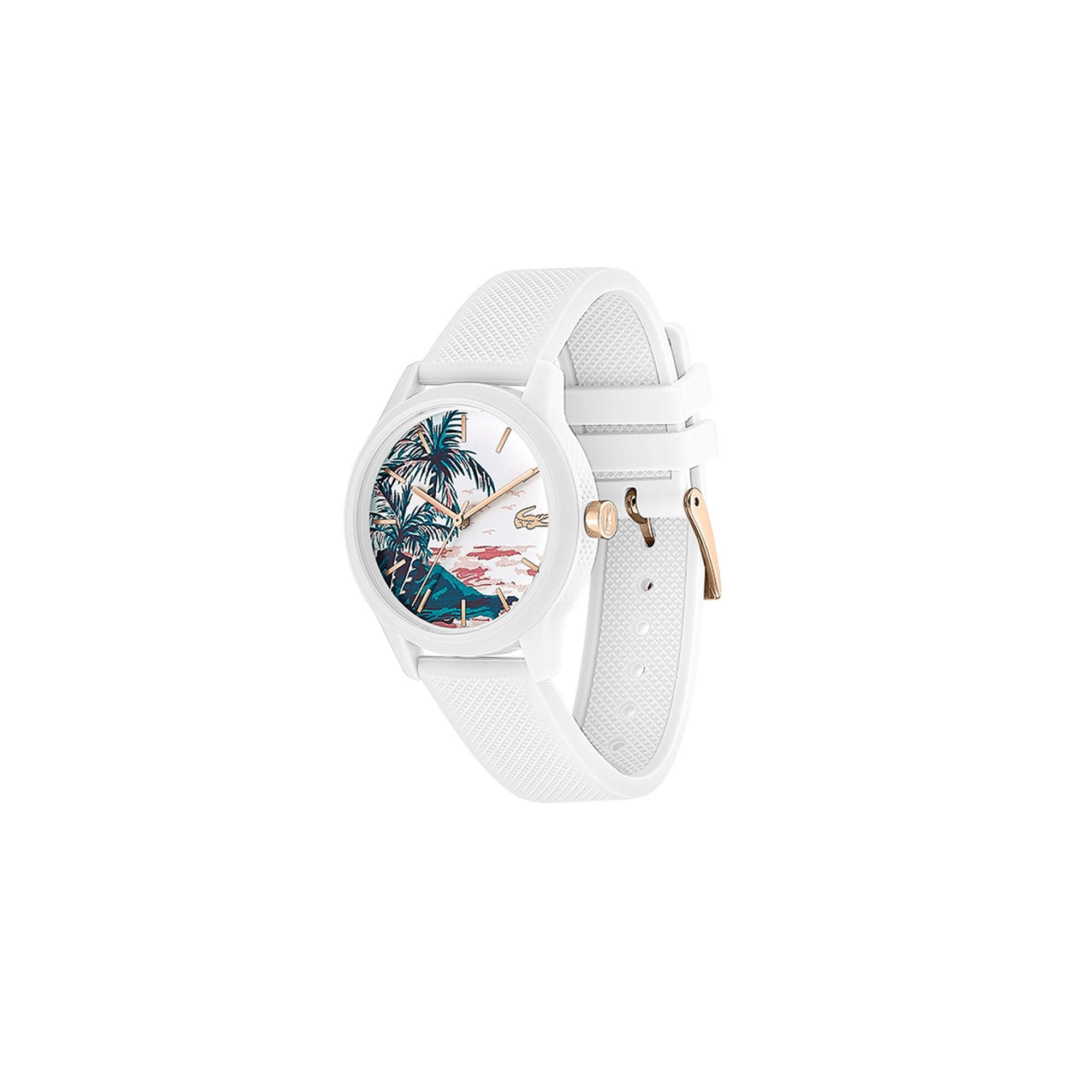 c2a9bb355 Lacoste - White Gents .12.12 Hawaii Watch With Green Silicone With Petit  Piqué Strap -. View fullscreen