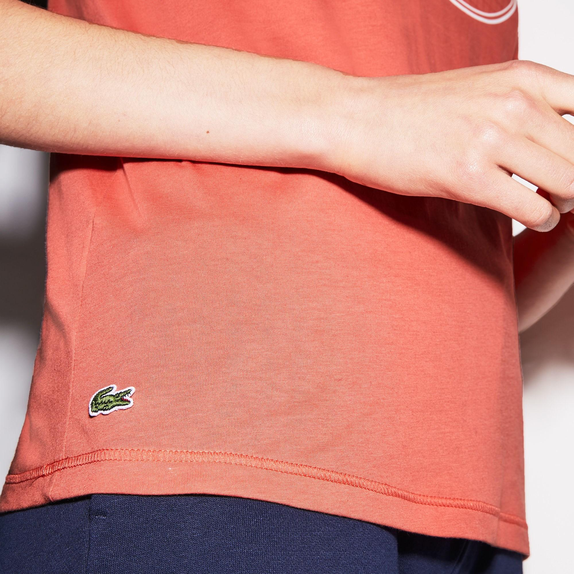 8ccc3bacb4 Lacoste Sport Oversized Logo Design Jersey Tennis T-shirt in Pink - Lyst