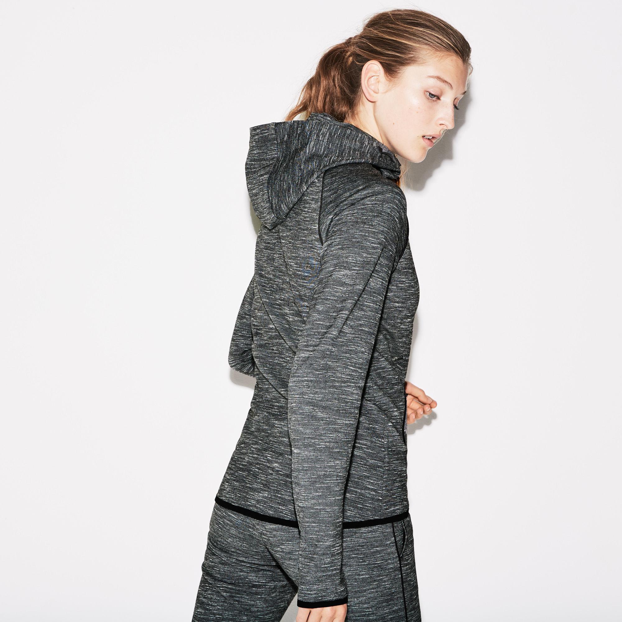 593a7aa504 Lyst - Lacoste Sport Hooded Zip Piped Tennis Sweatshirt in Black