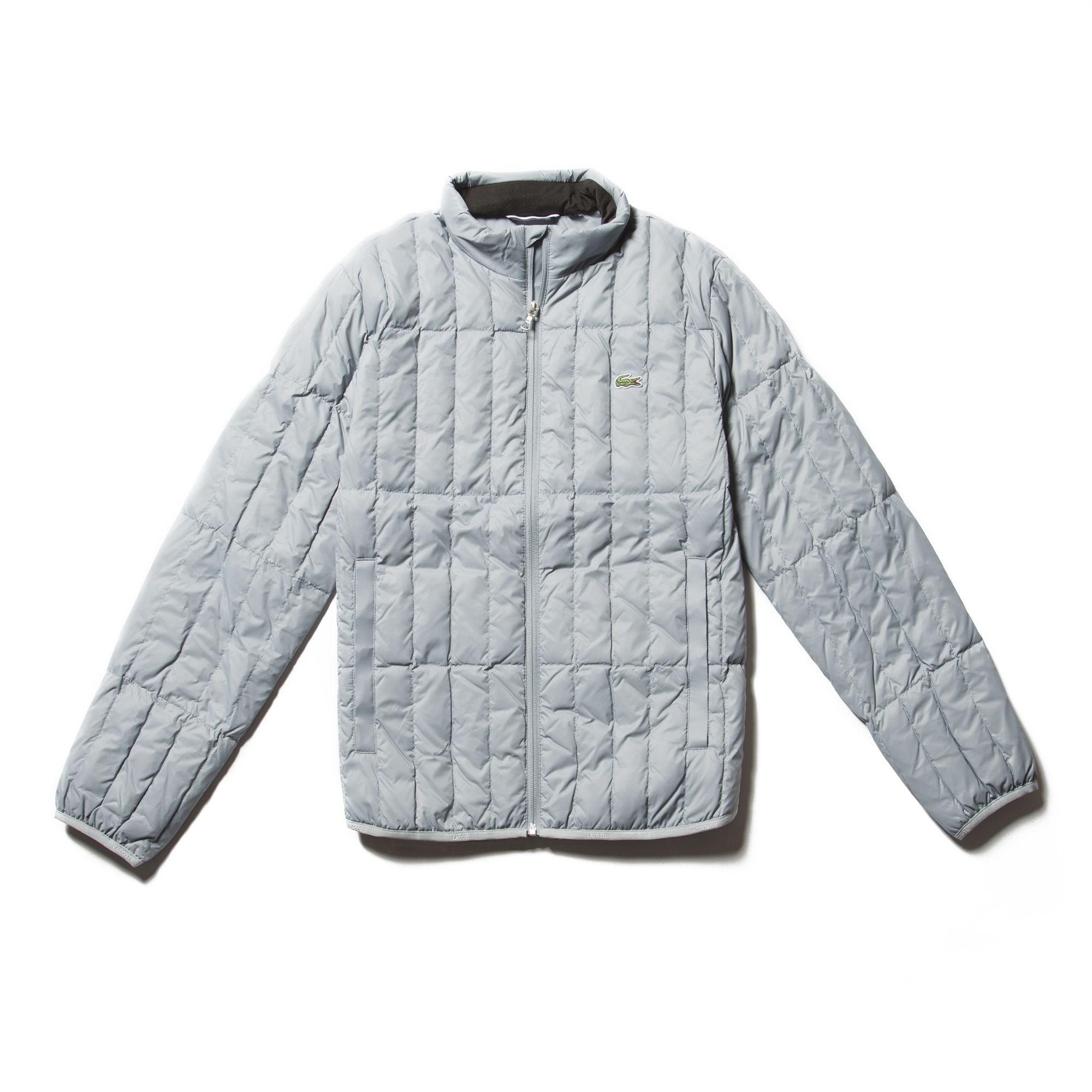 3d634a364afcb Lacoste - Blue Lightweight Built-in Hood Quilted Down Packable Jacket for  Men - Lyst. View fullscreen