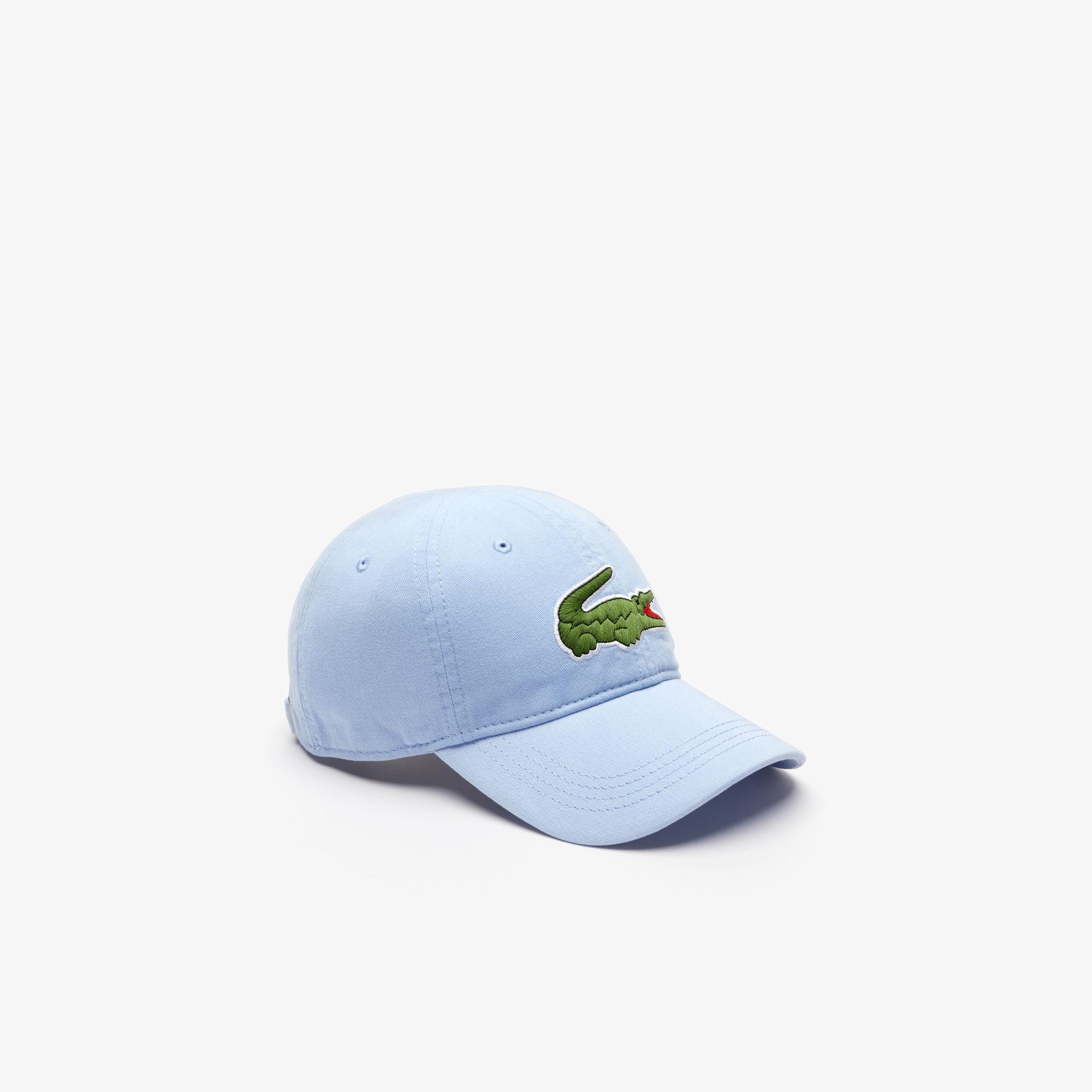 3d9bab33315b4e Lyst - Lacoste Big Croc Gabardine Cap in Blue for Men