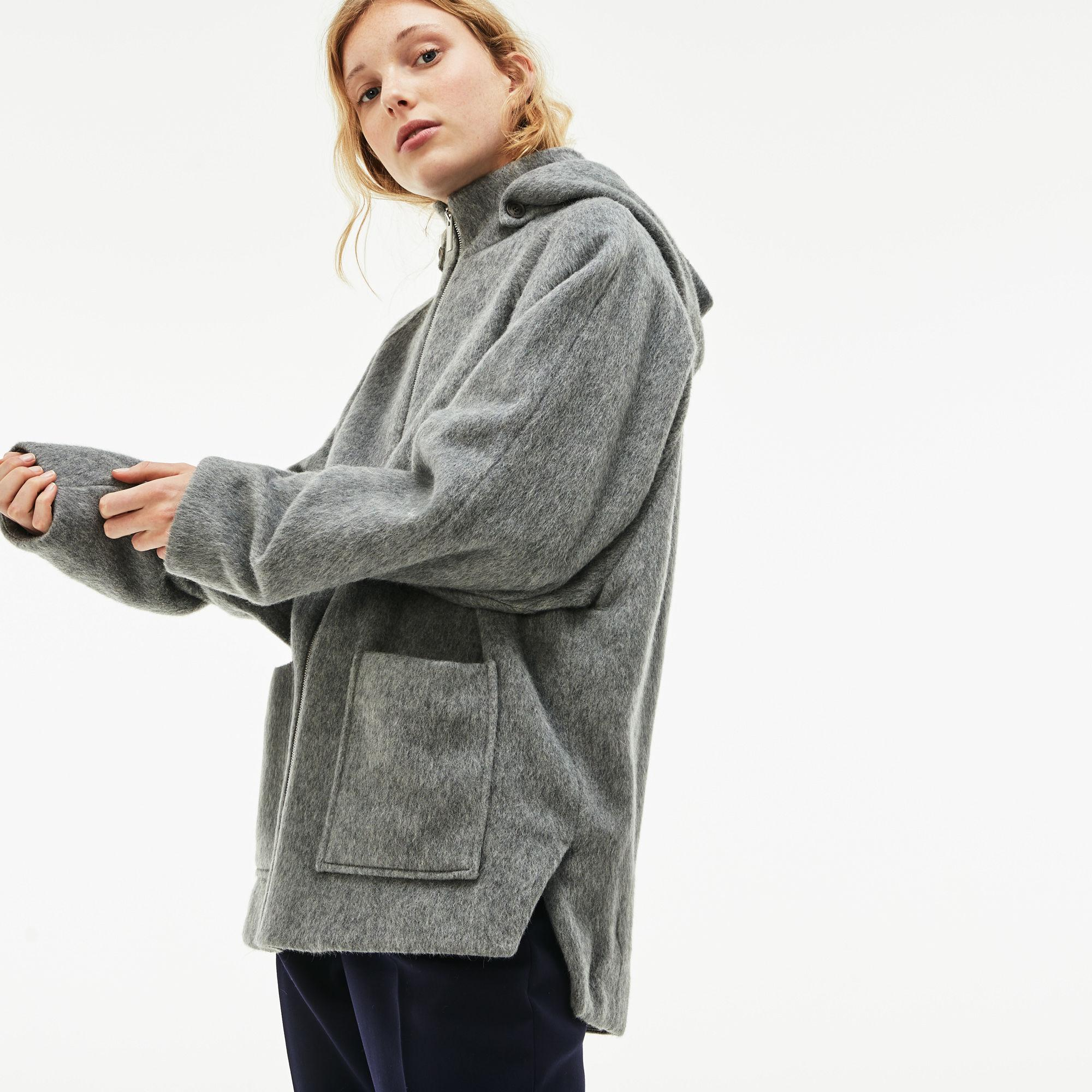 c36762ddeb4c2 Lacoste - Gray Wool And Mohair Broadcloth Short Coat - Lyst. View fullscreen
