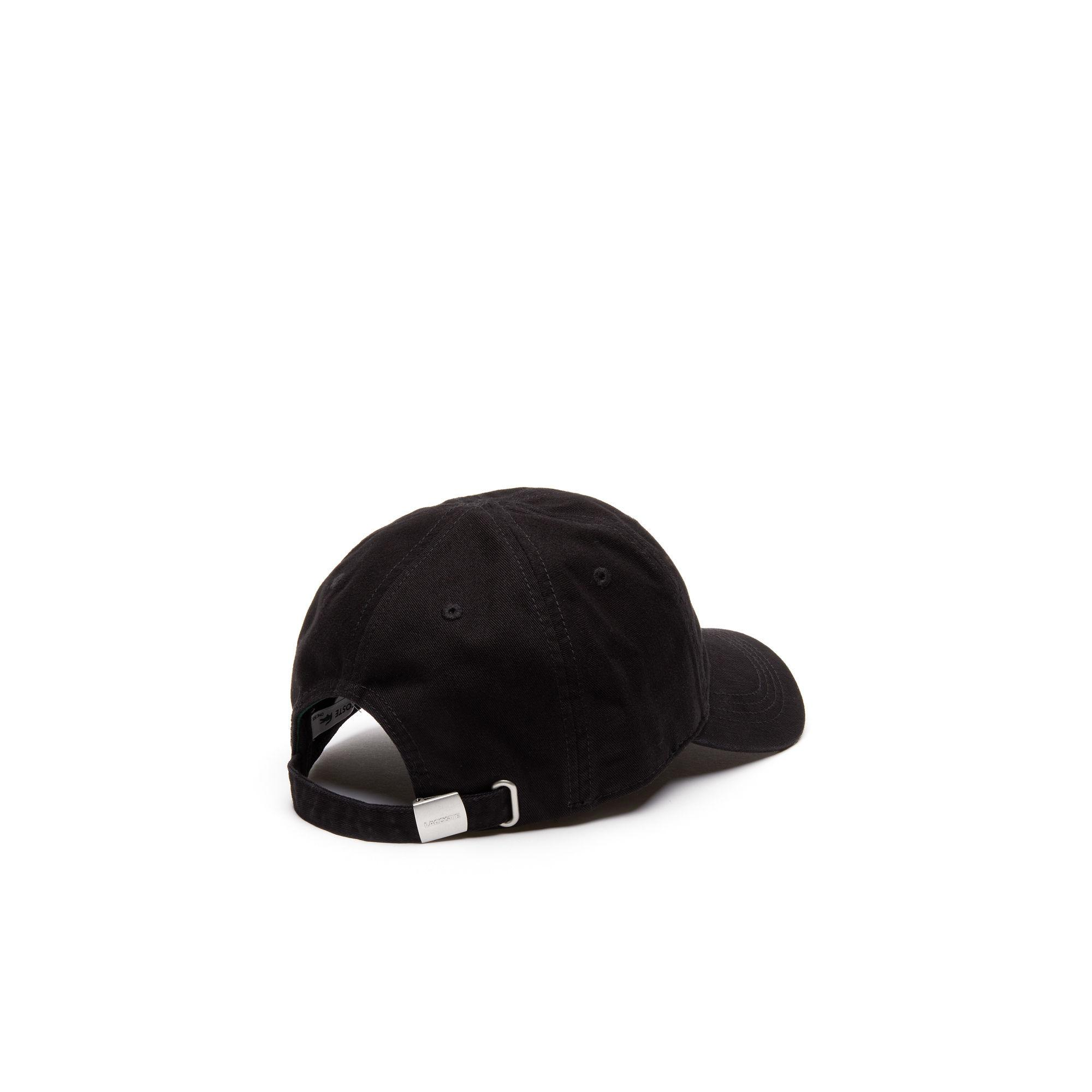 da84954e227 Lacoste - Black Big Croc Gabardine Cap for Men - Lyst. View fullscreen