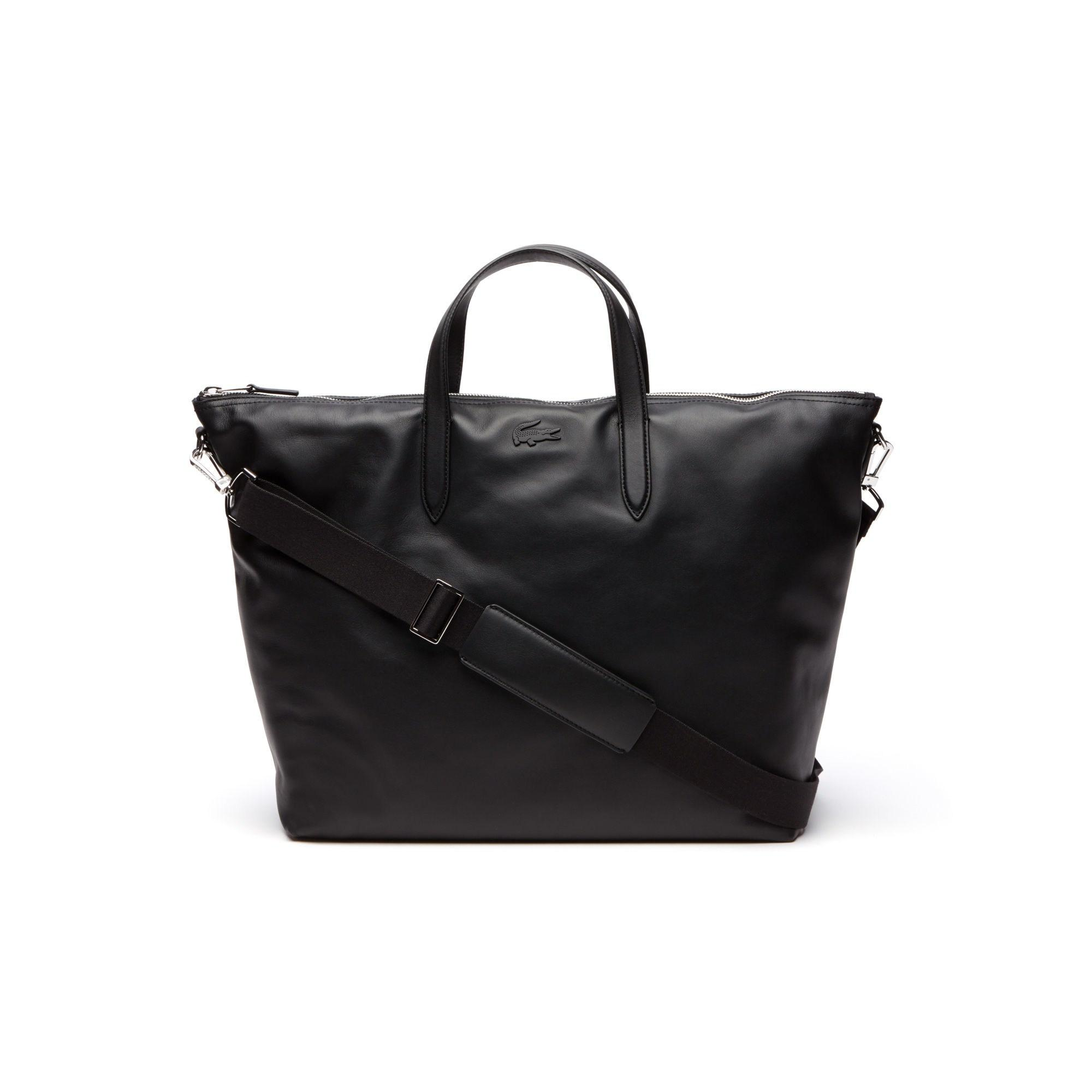 4a2c08740fa Lacoste - Black L.12.12 Business Large Leather Zip Tote for Men - Lyst.  View fullscreen