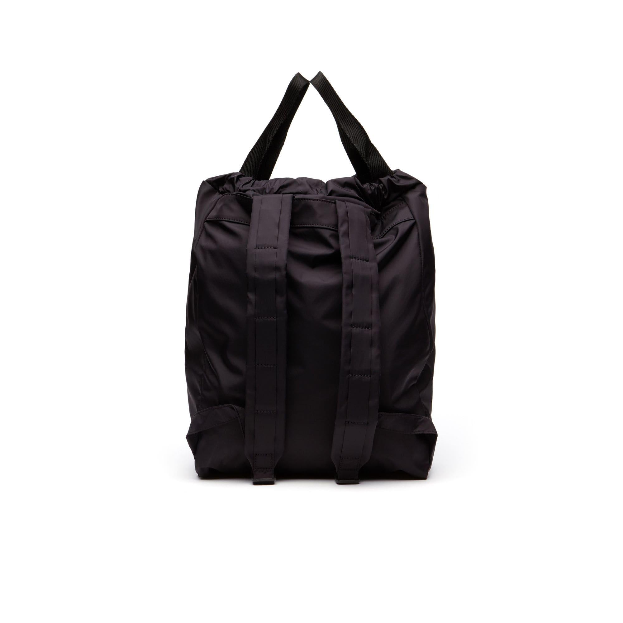 ac420ad59d Lacoste Black Motion Technical Nylon Collapsible Backpack for men