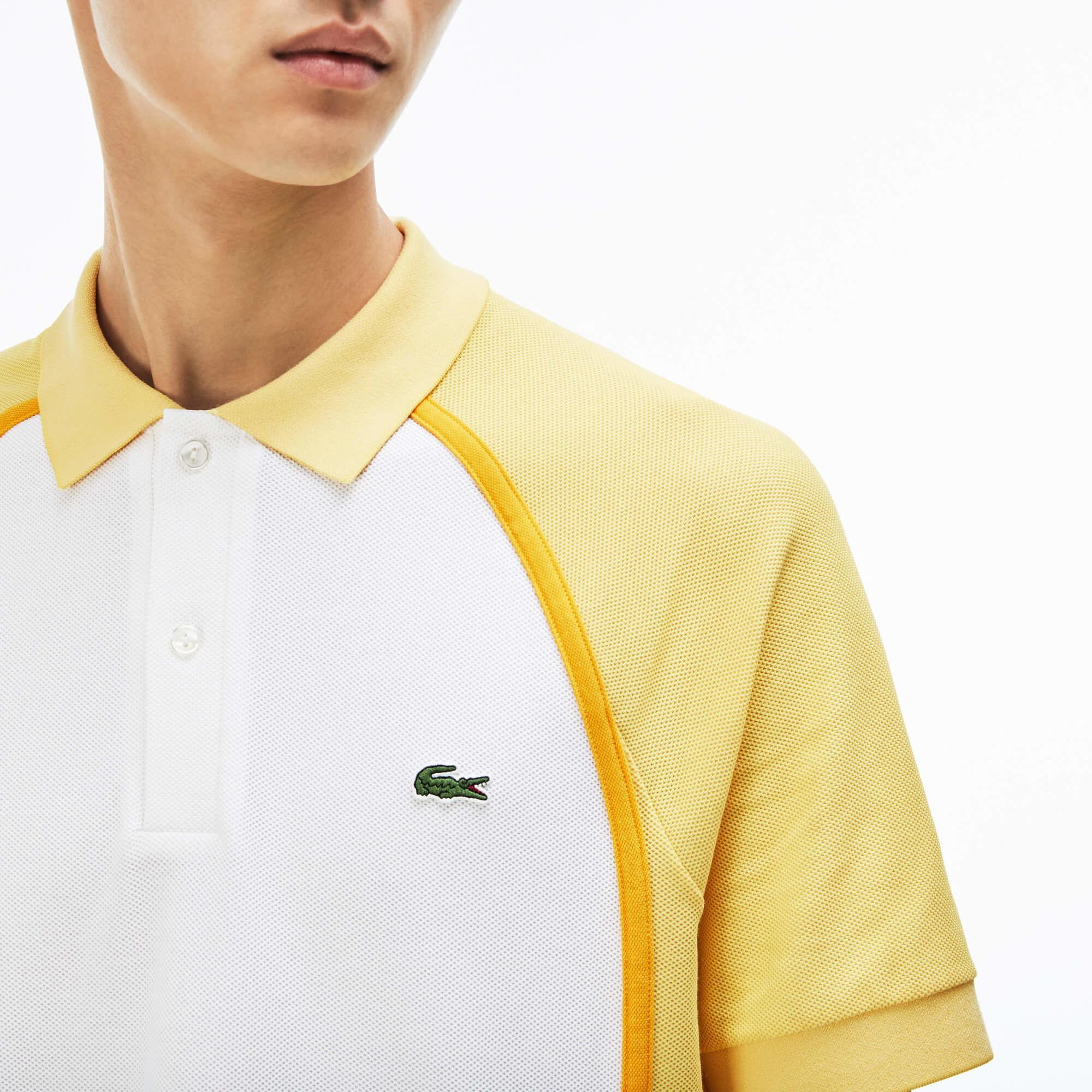 b15450c6b Lyst - Lacoste Made In France Regular Fit Piqué Polo in Yellow for Men