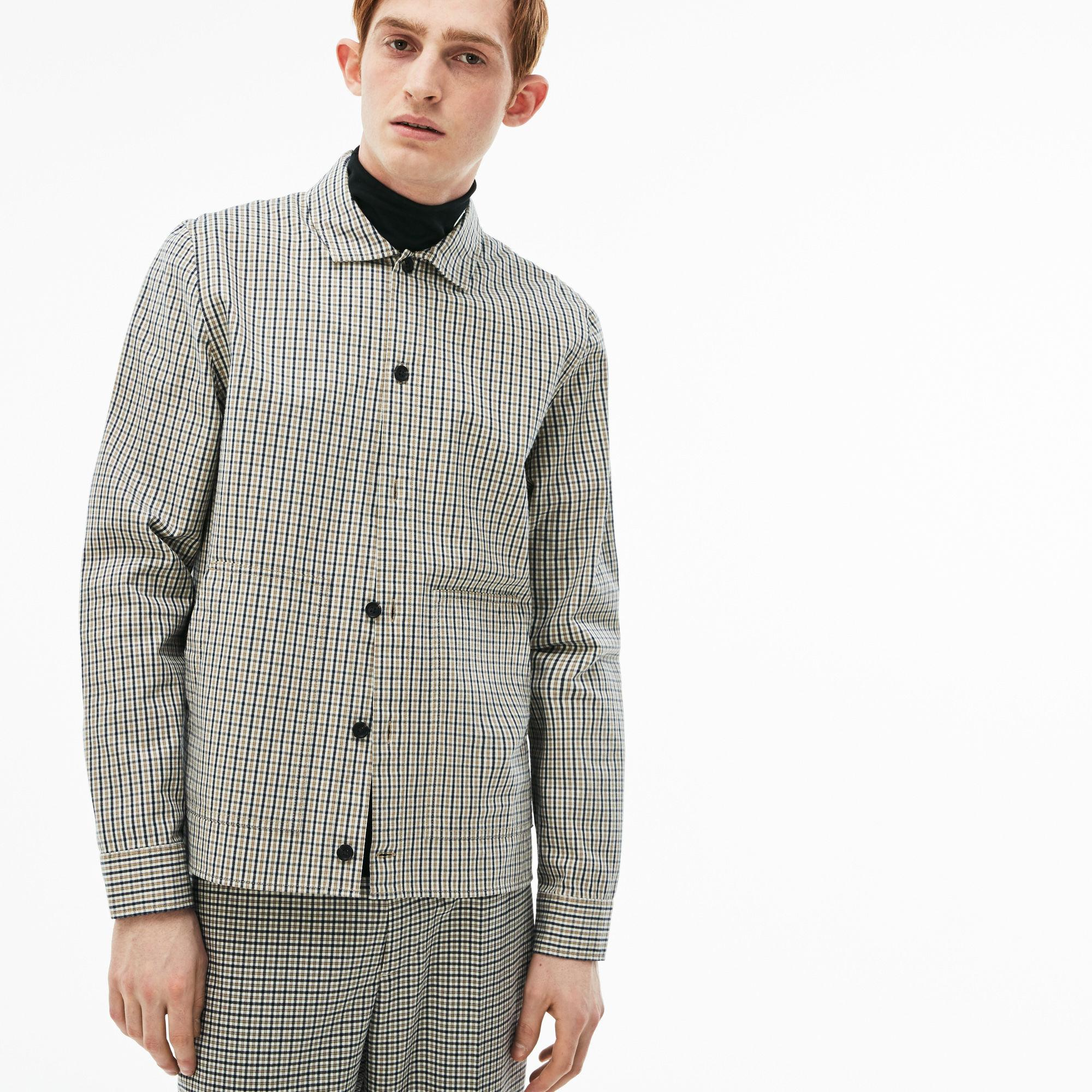 f0189ebd Lacoste White Live Slim Fit Check Flannel Shirt for men