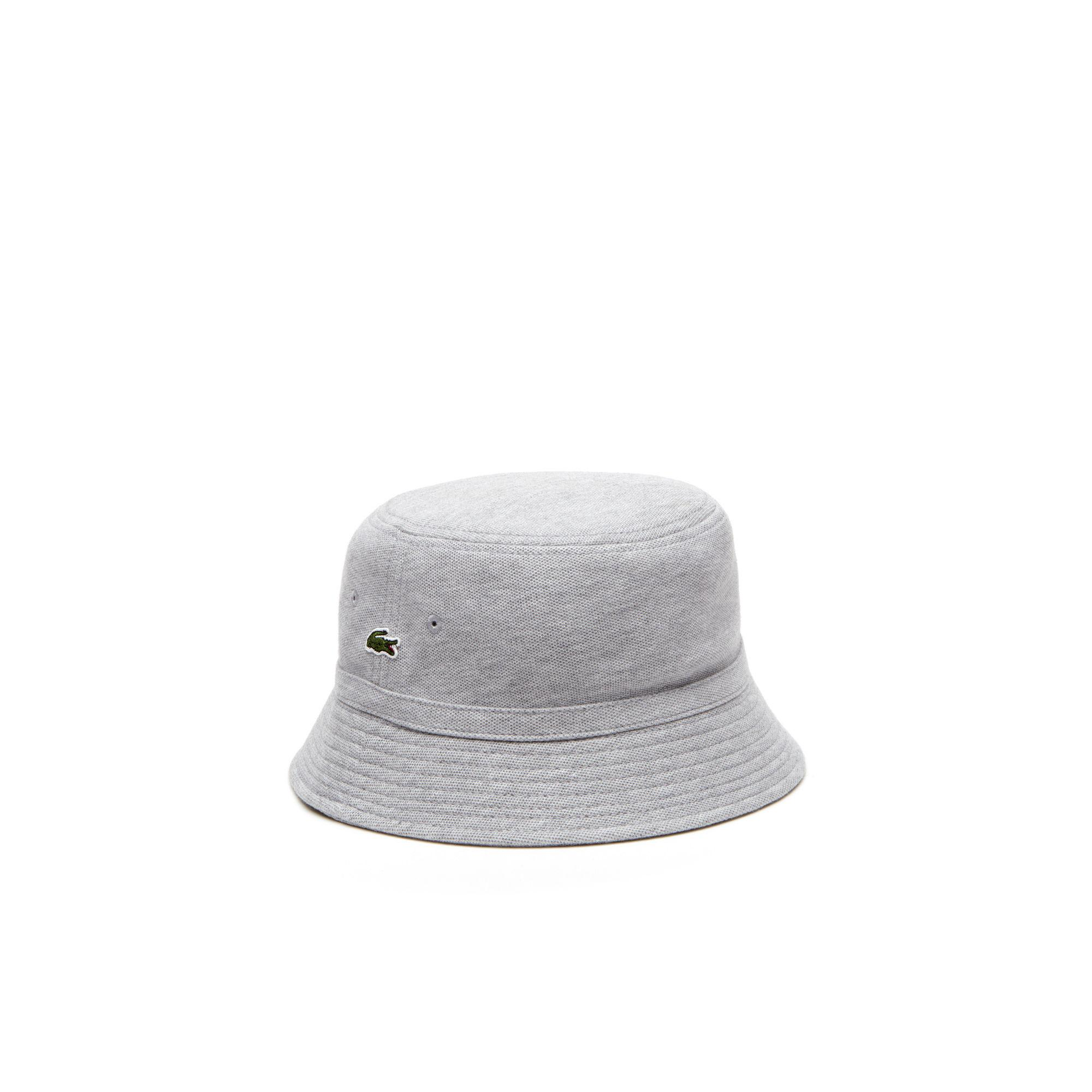 566466150c4d Lacoste Cotton Piqué Bucket Hat in Gray for Men - Lyst