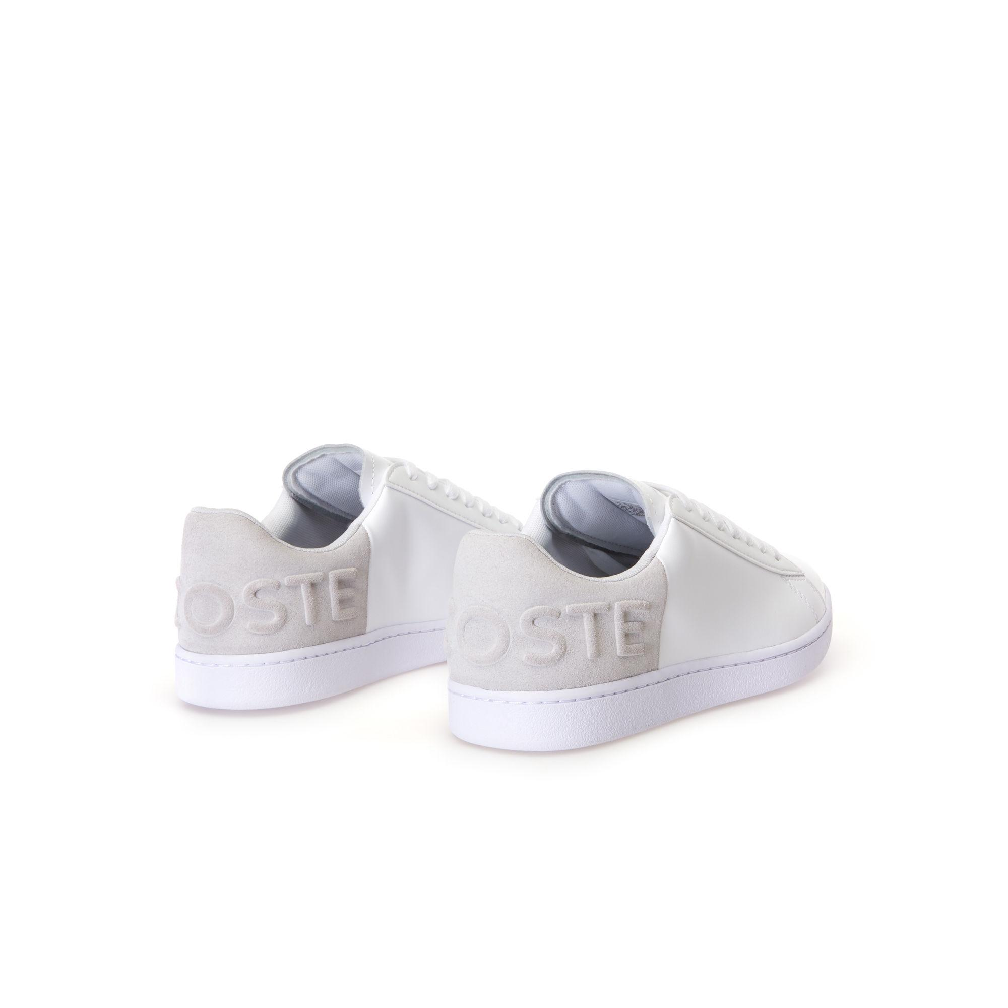 7653a568a8 Lacoste White Carnaby Evo Colourblock Leather Trainers