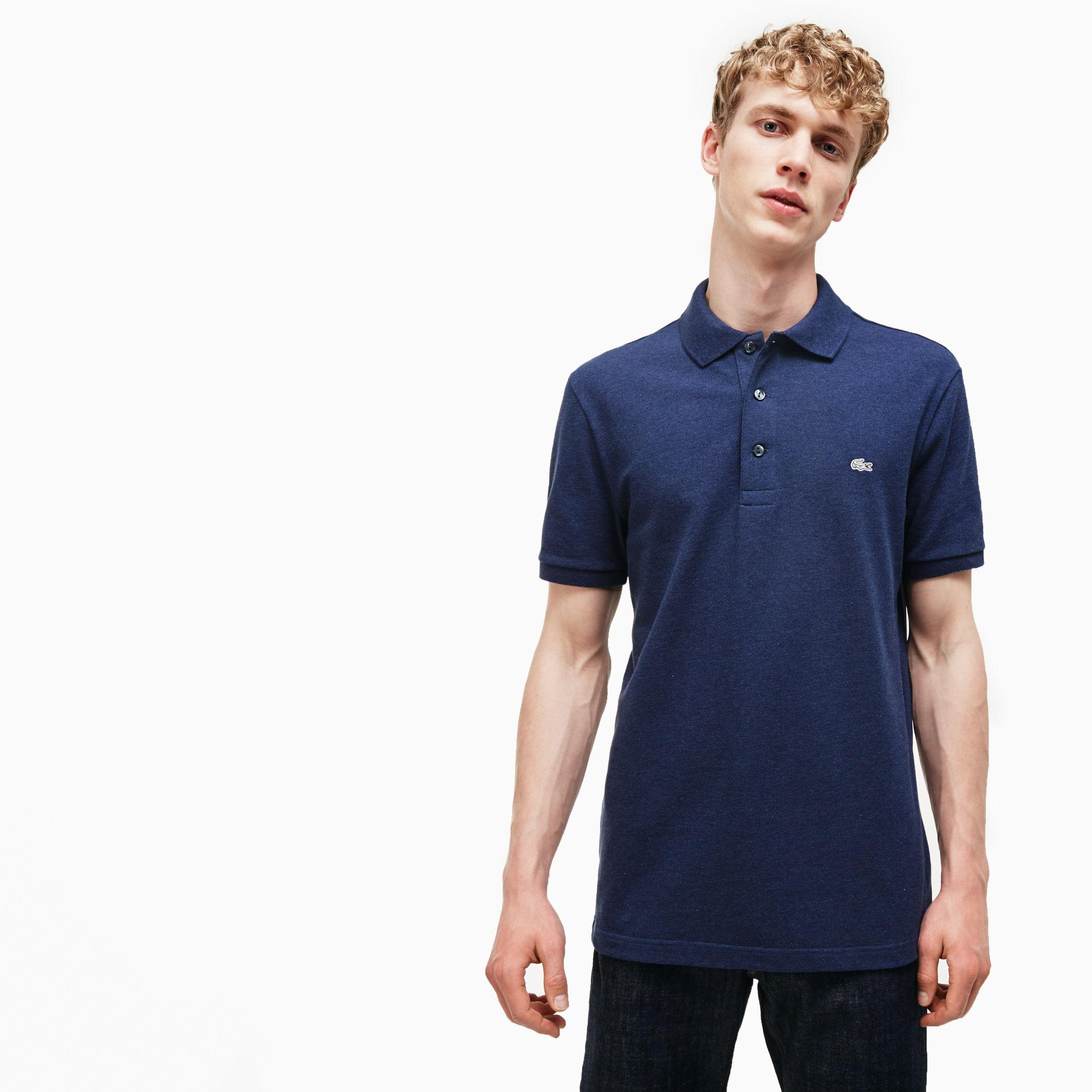 f441ae3859 Lyst - Lacoste Slim Fit Polo Shirt In Stretch Petit Piqué in White ...