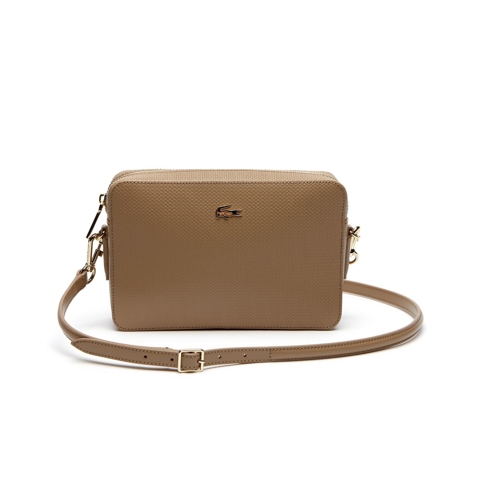 18b0d3a1f68e3 Lyst - Lacoste Chantaco Piqué Leather Square Crossover Bag