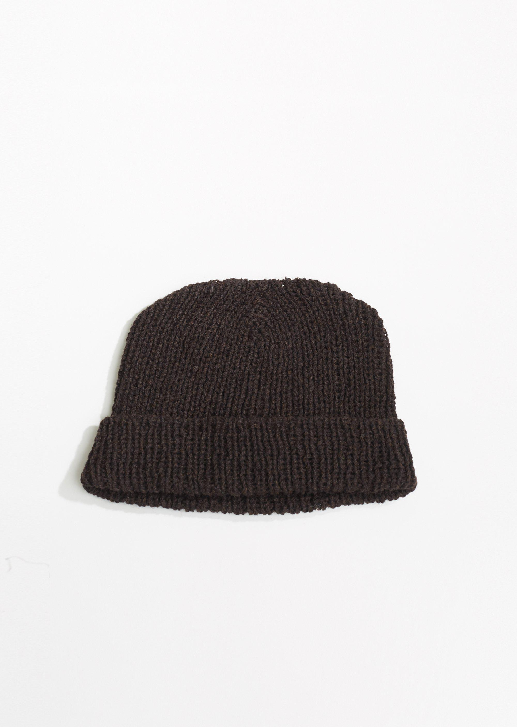 Camiel Fortgens Hand Knit Merino Beanie in Brown - Lyst 39eb89784e88