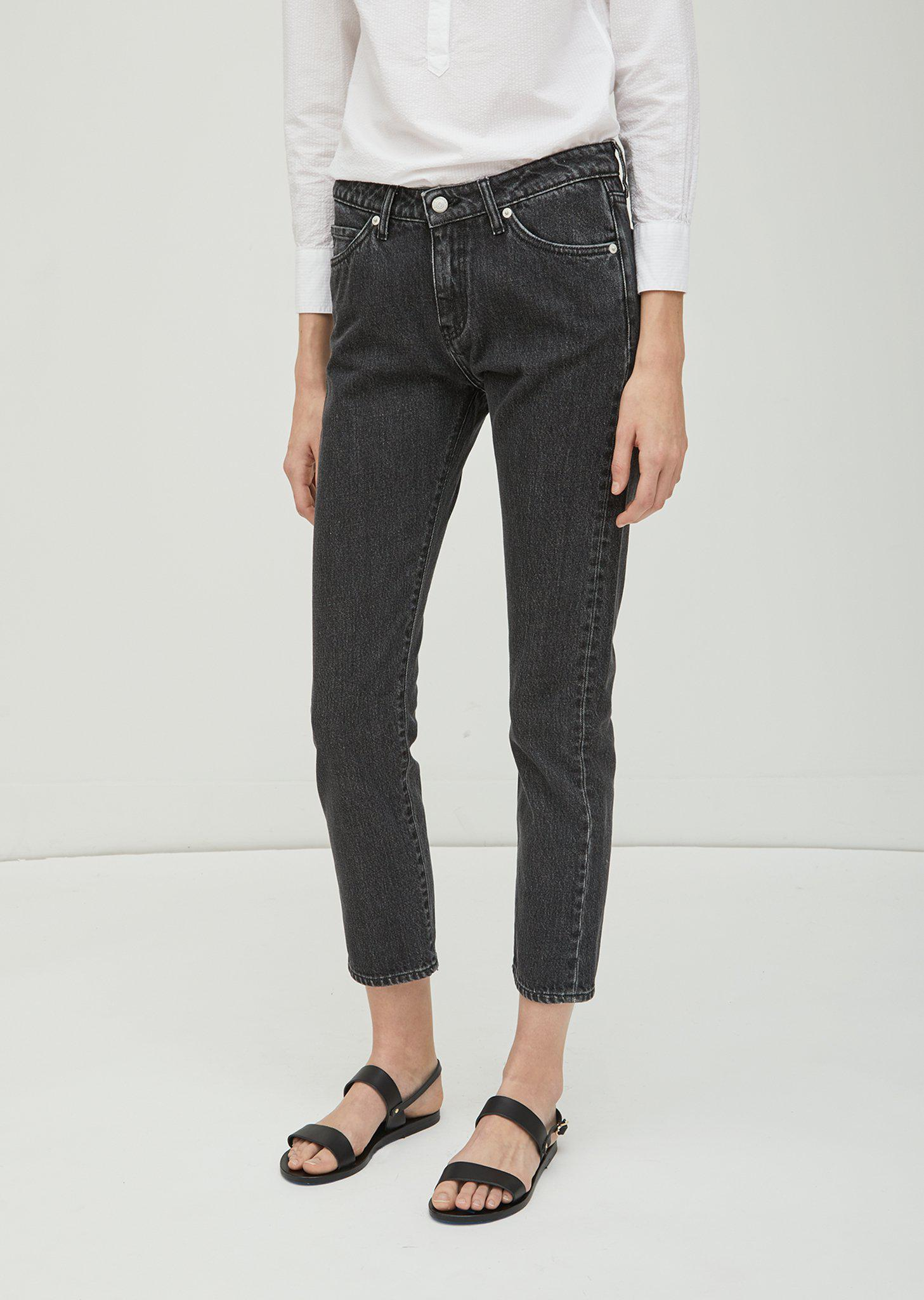 Officine Generale Bret 5 Pocket Japanese Denim Jeans in Grey (Grey)