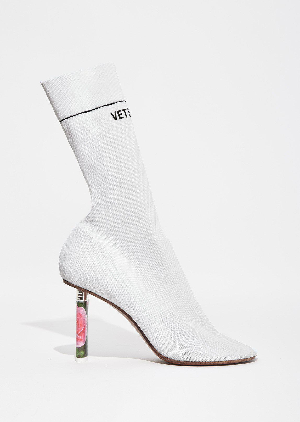 Vetements Leather Socks Ankle Boots in