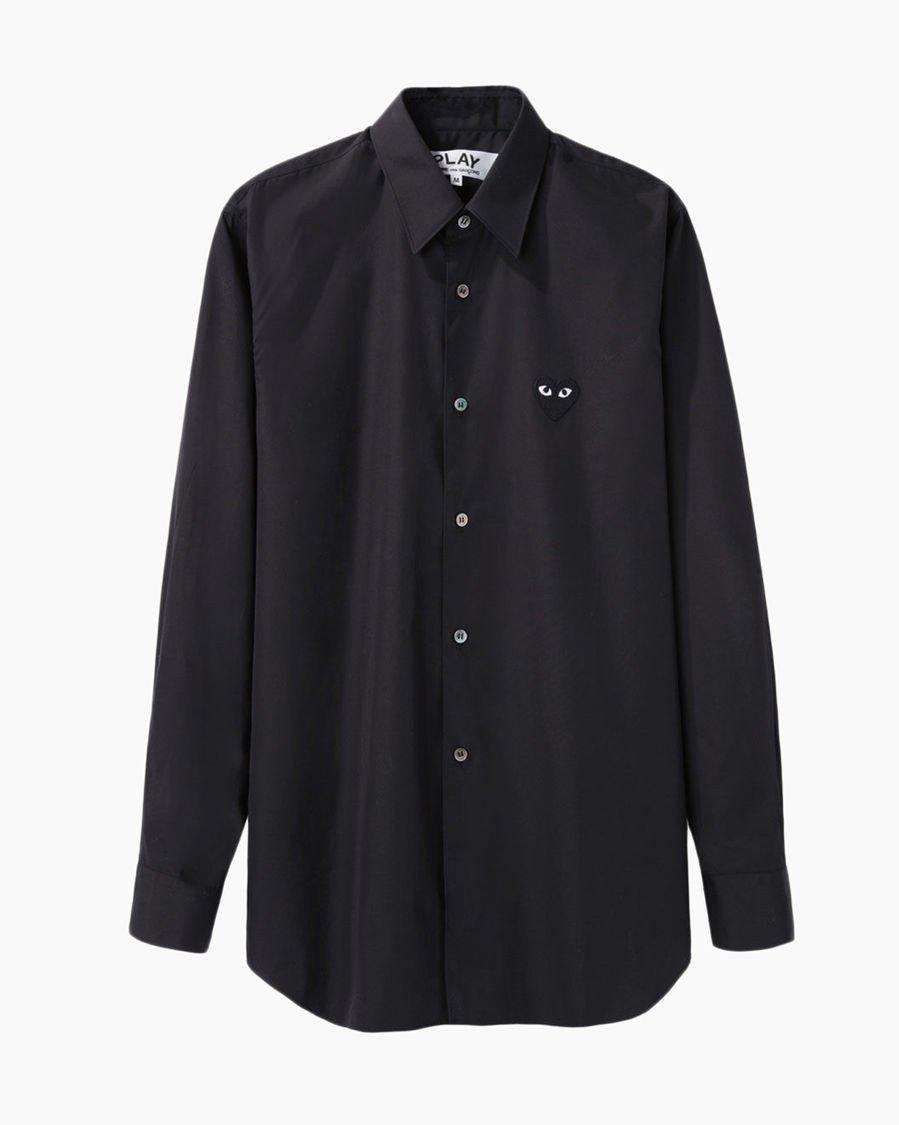 Play Comme des Garçons Men's Emblem Shirt in Black for Men