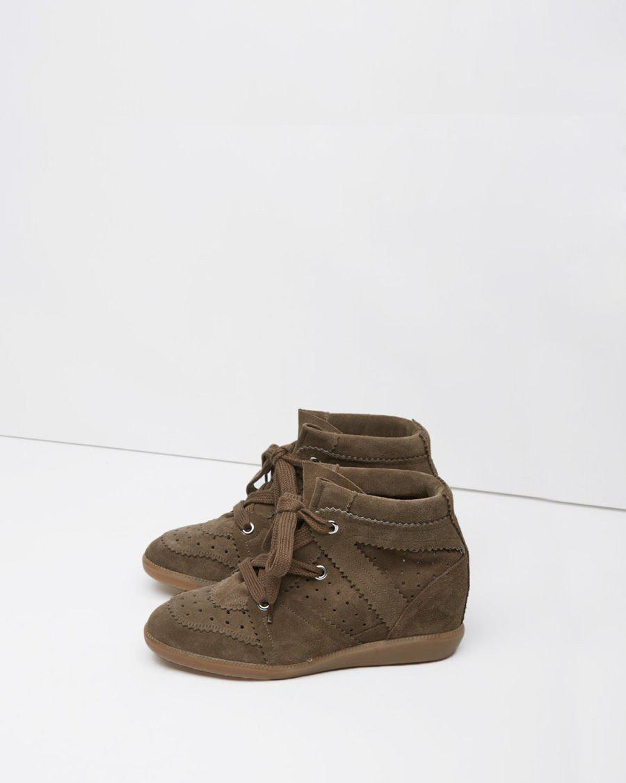 Isabel Marant Leather Bobby Low-top Sneaker in Brown