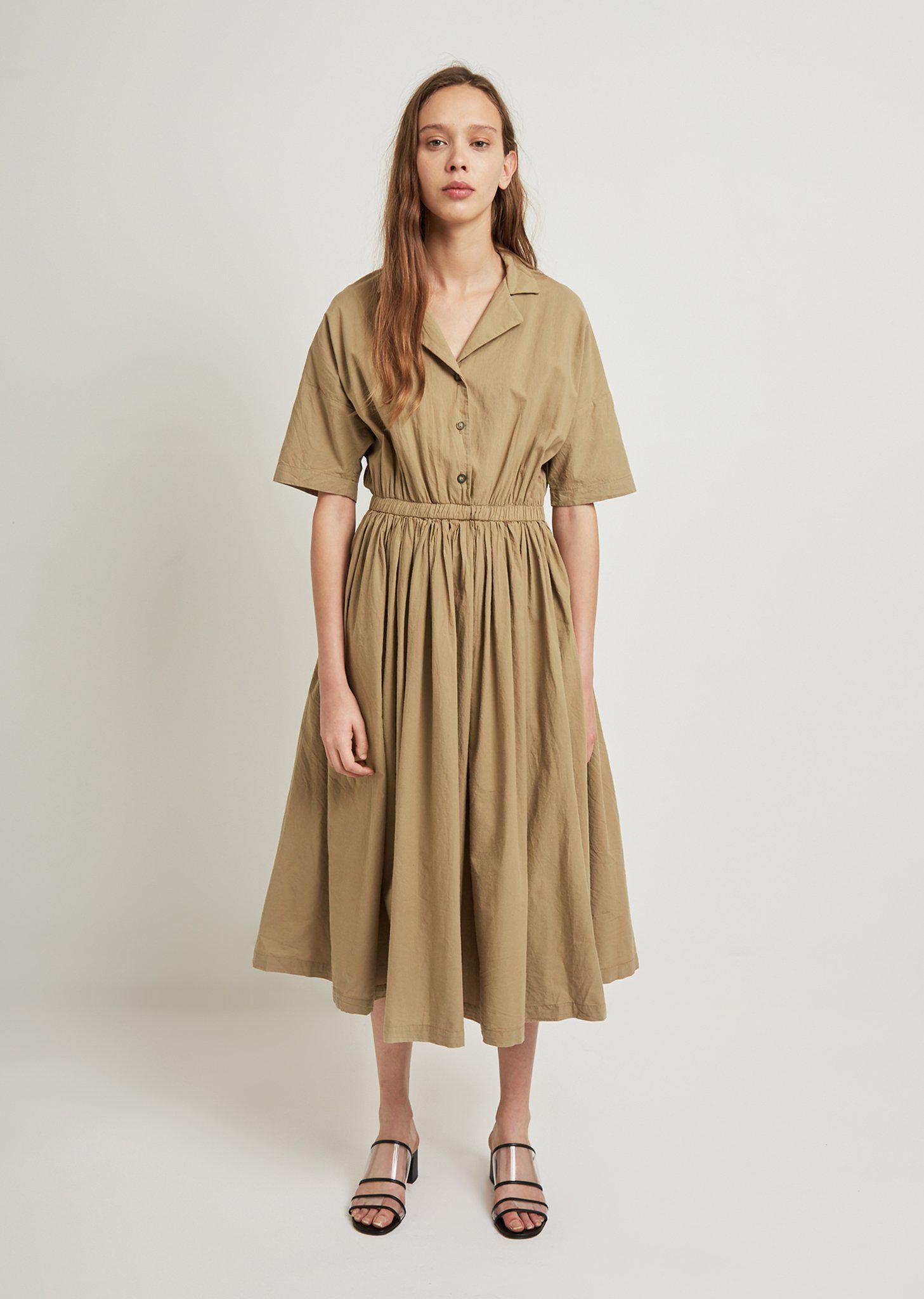 bc9c3a35e85ef Black Crane Natural Classy Short Sleeve Dress