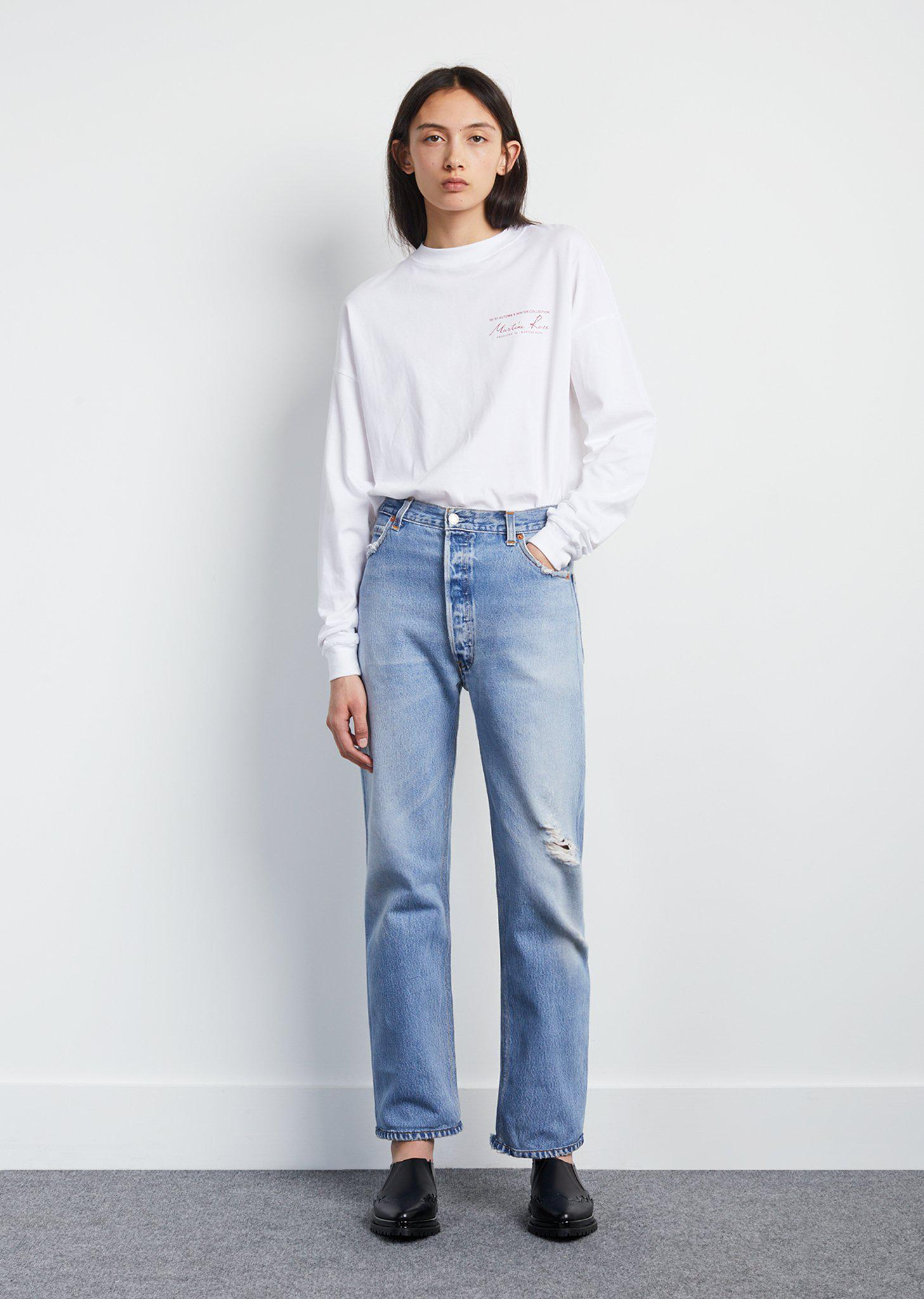 Re/Done x Levis straight leg jeans - Blue Re/Done a69ywYKNHI