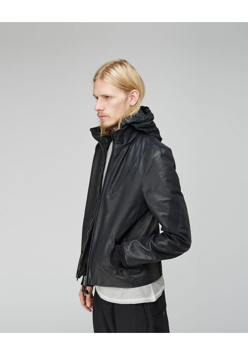 Damir Doma Jipo Leather Jacket - Rtv in Black for Men