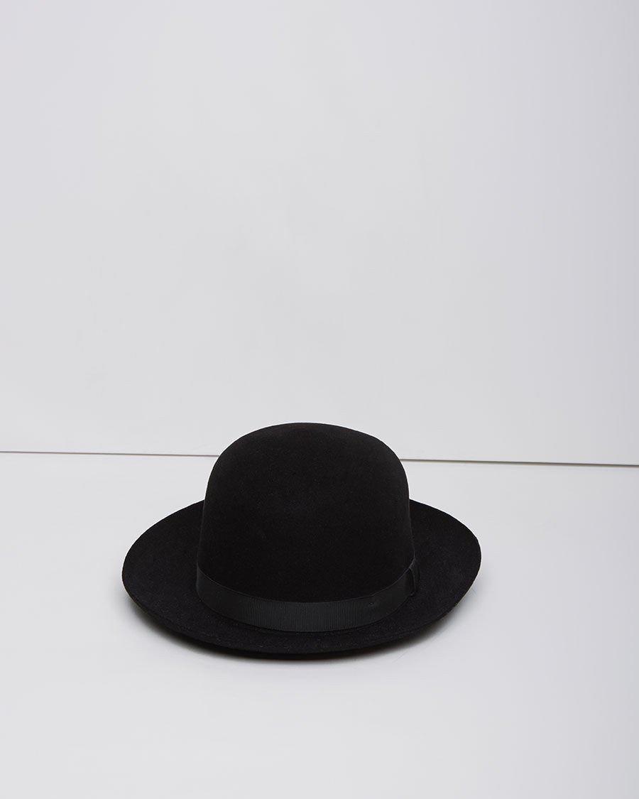 bc3cd544b46 Margaret Howell Foldaway Trilby Hat in Black - Lyst
