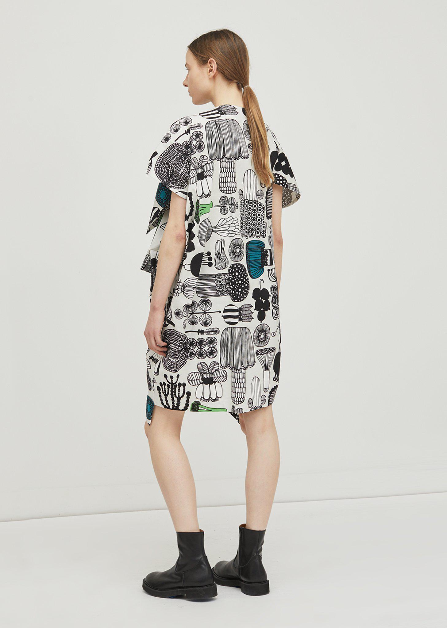 Puutarhurin parhaat-print cotton dress Junya Watanabe ZgpZl