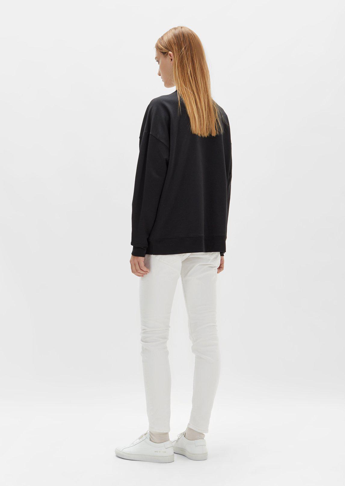 6397 Cotton Zip Pocket Sweatshirt in Black