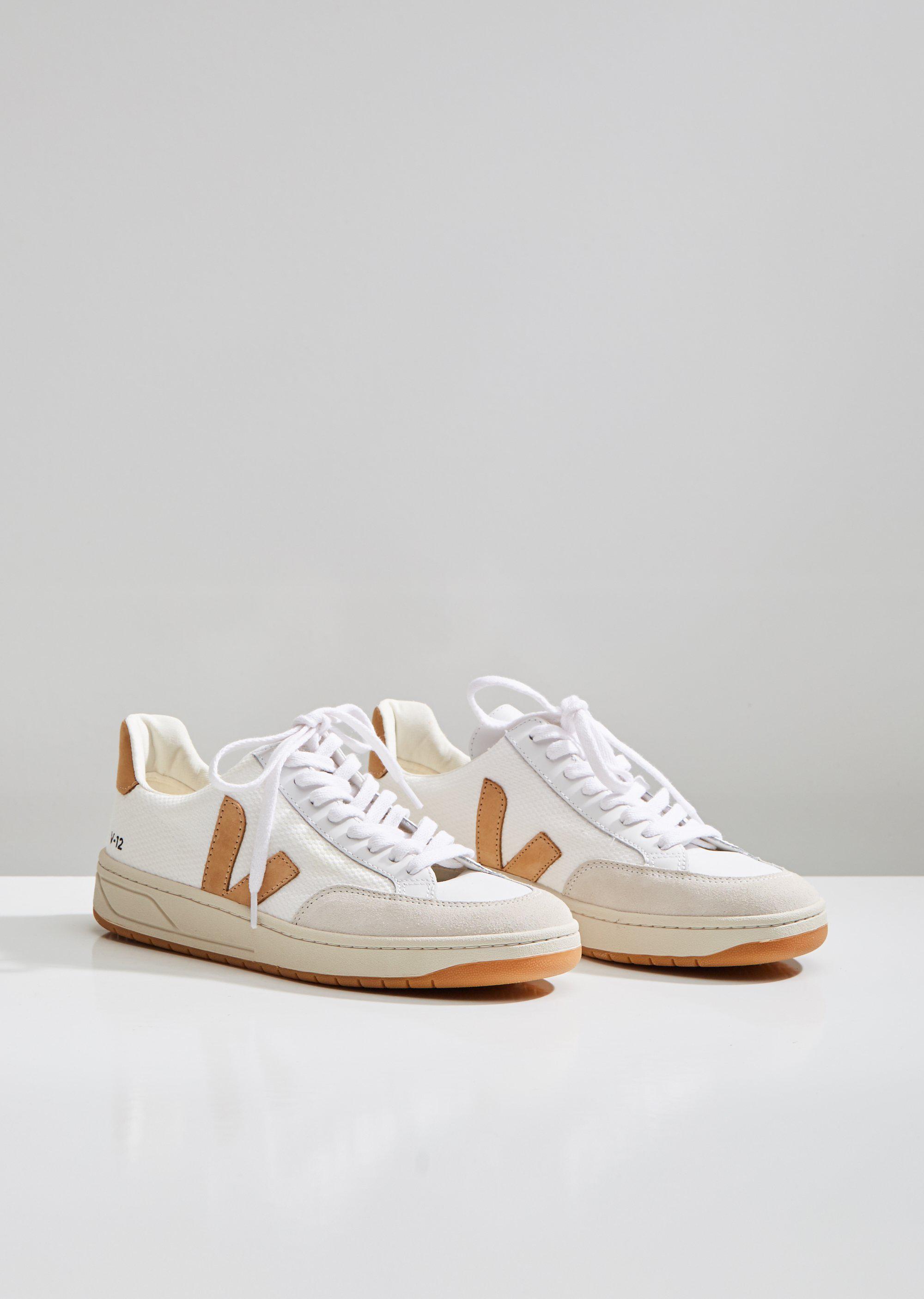 Veja Rubber V-12 B-mesh Sneakers in