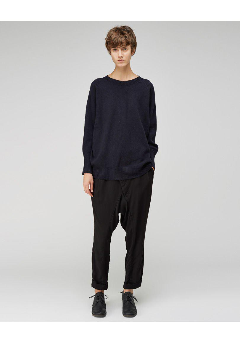 Margaret Howell Cashmere Oversized Crew in Blue for Men