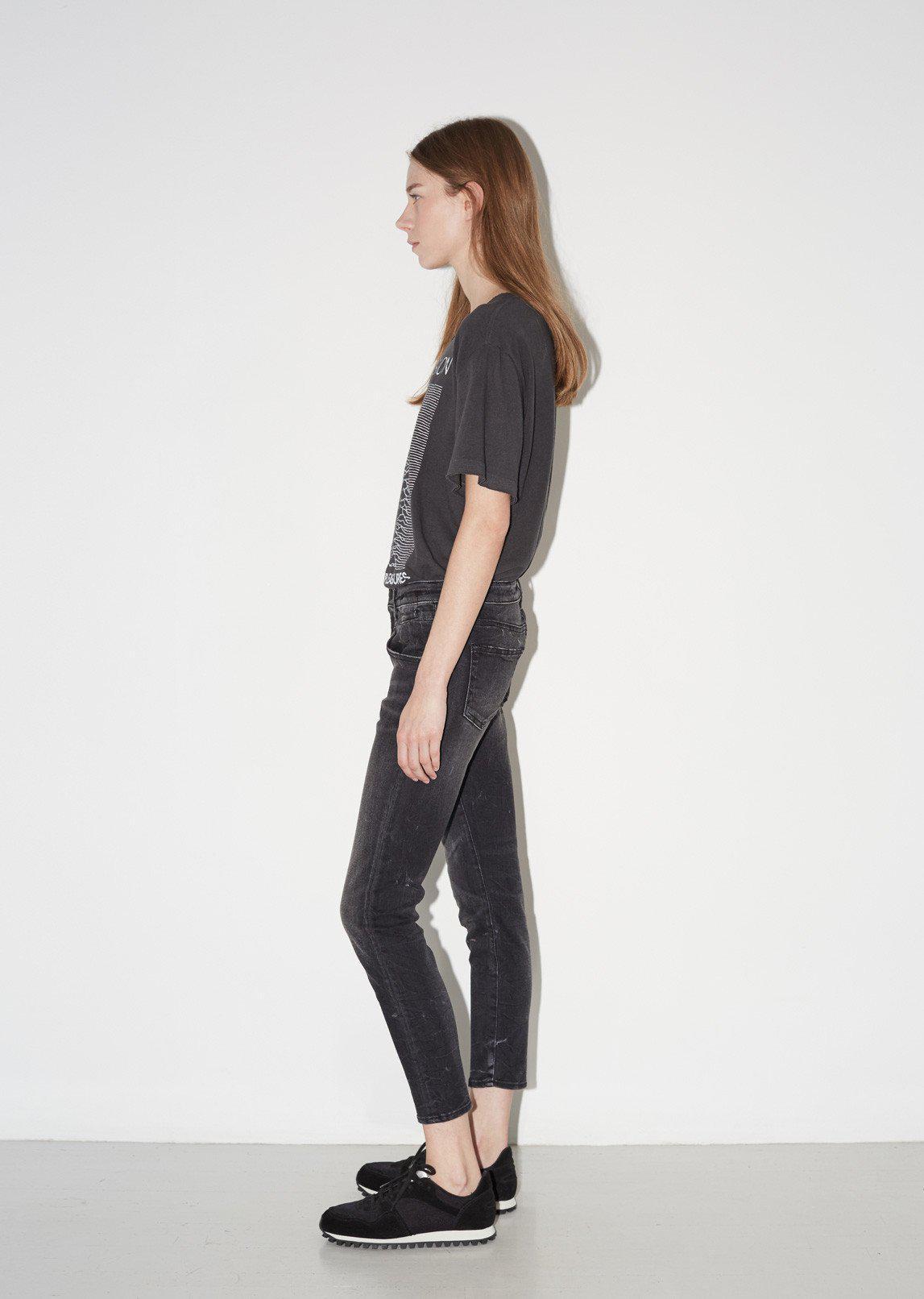 R13 Denim Boy Skinny Jeans in Black Marble (Black)