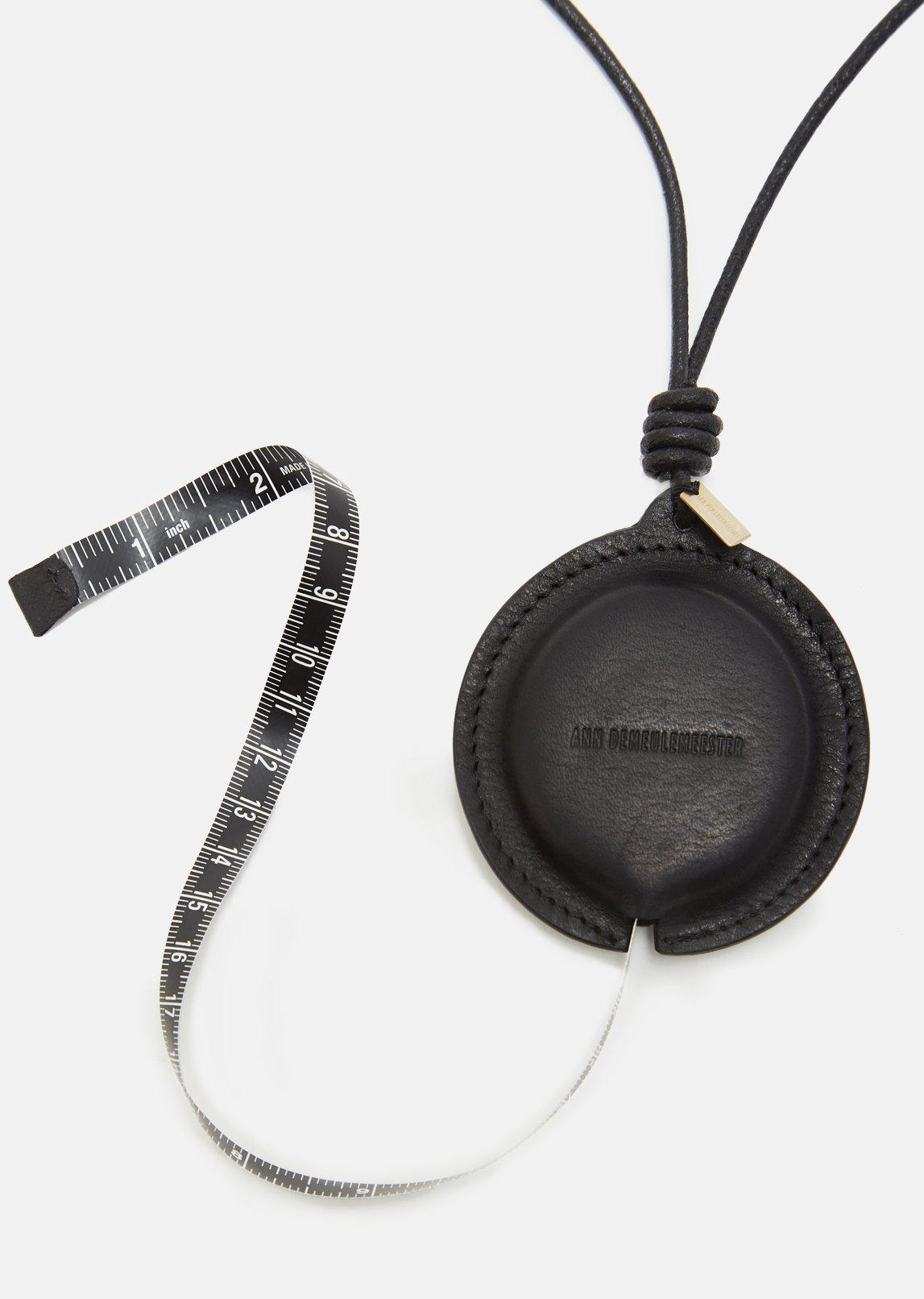 Ann Demeulemeester Leather Alana Rollflix Necklace in Black