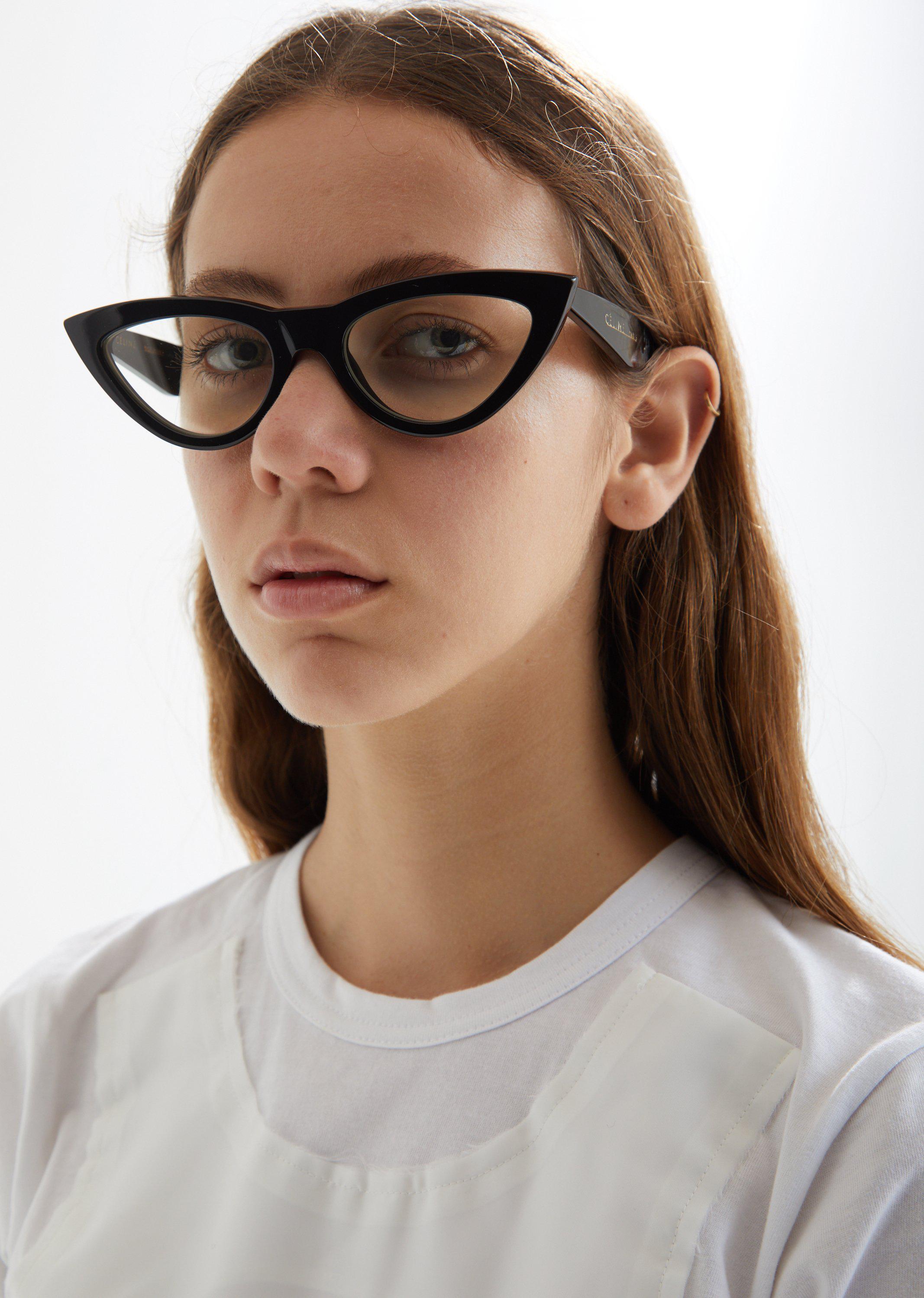 Celine Cat Eye Glasses Lyst