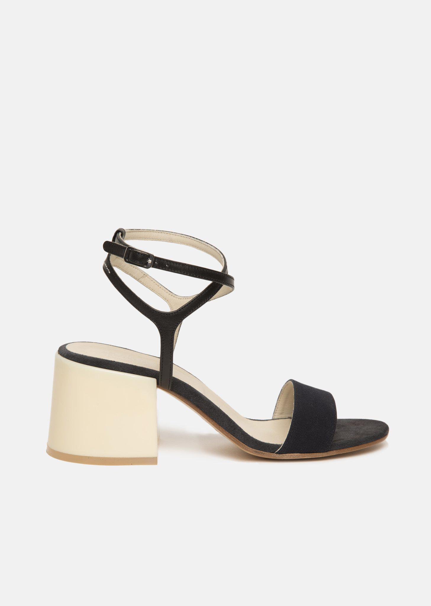 MM6 Maison Margiela MM6 by Maison Martin Margiela Suede Ankle-Strap Sandals clearance discounts free shipping brand new unisex cheap new styles discount browse Ewn63