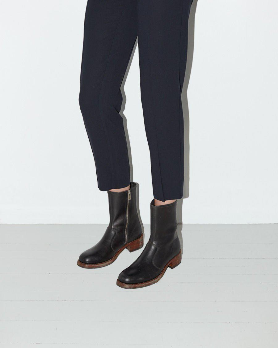 Maison Margiela Leather Replica Muffa Boot in Black