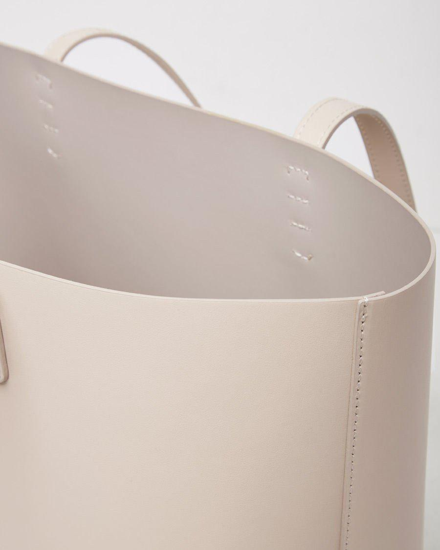 Mansur Gavriel Leather Large Tote in Sand (Natural)