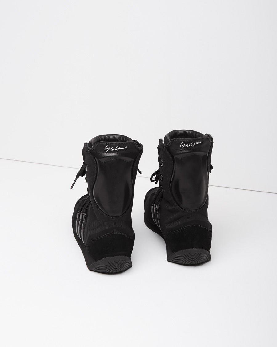 Yohji Yamamoto Leather Mesh Boxing