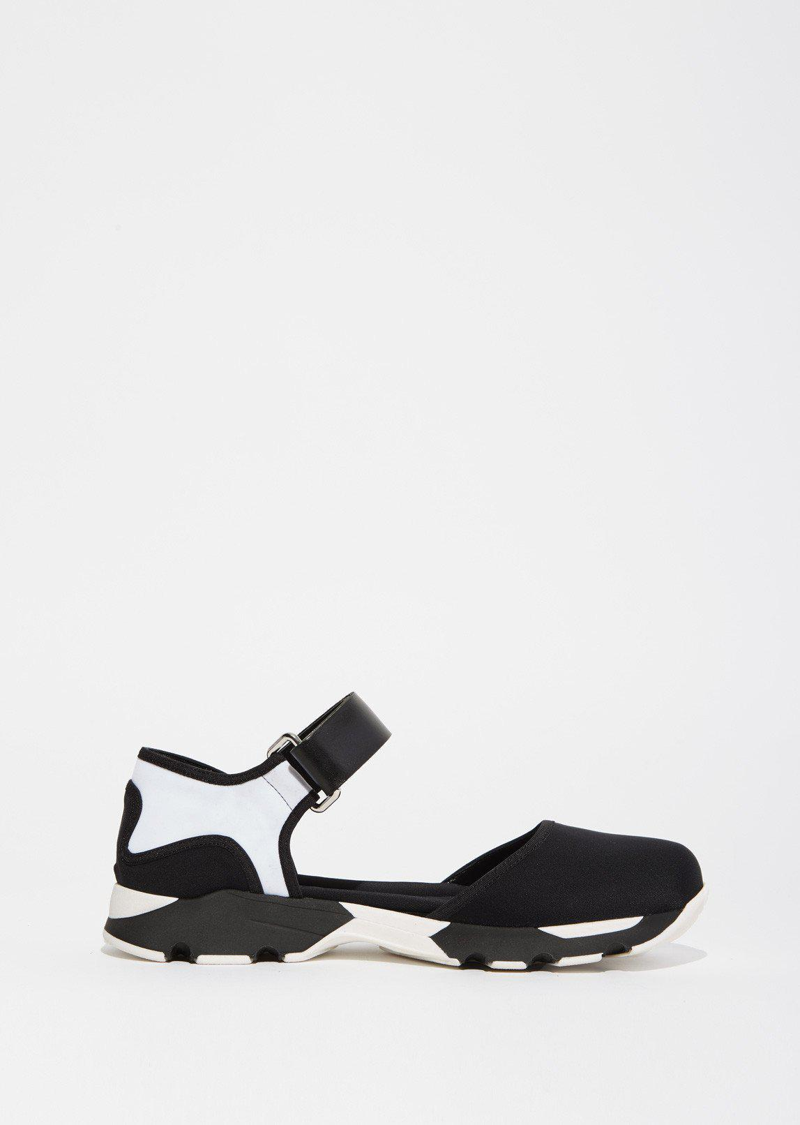 Marni Cotton Mary Jane Sneakers in