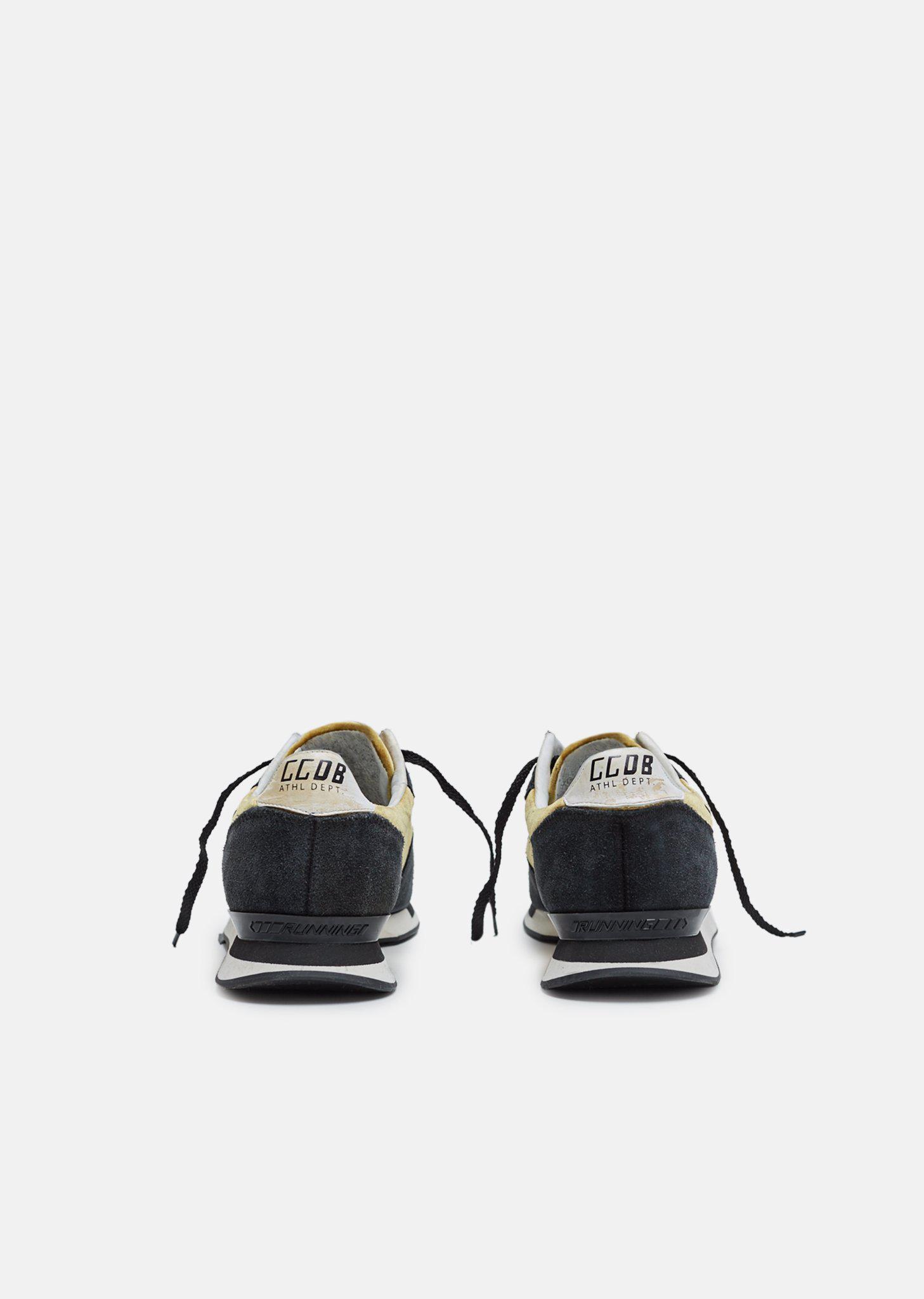 Golden Goose Deluxe Brand Suede Running Sneakers in Black