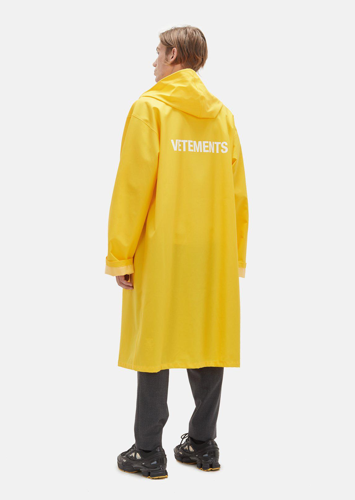 Fred Martin Ford >> Vetements Raincoat in Yellow - Lyst