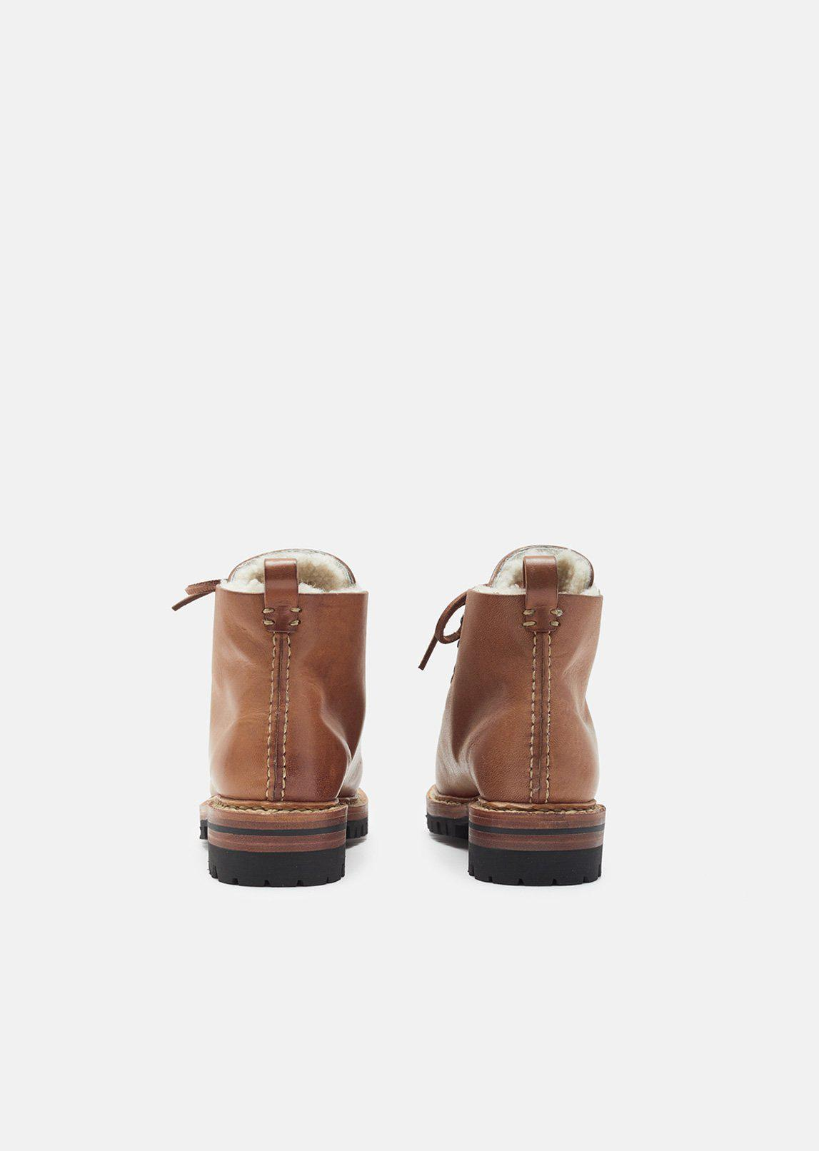 a3ca6719ced Feit Brown Whipstitch Hiker Boots