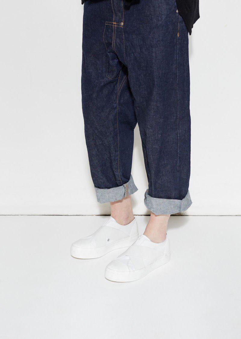 Zucca Belted Low Cut Sneaker in White