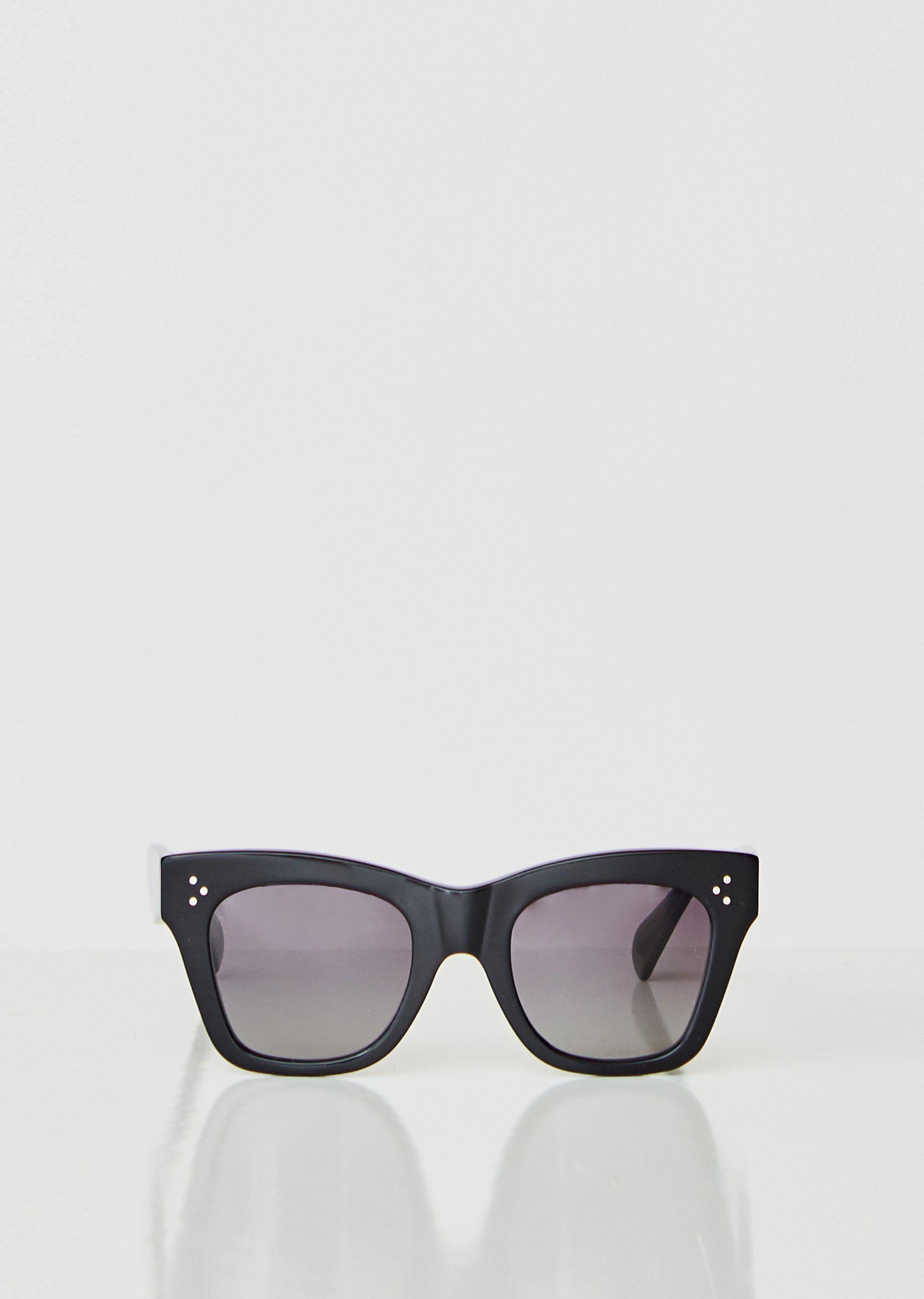 5b087fb19312 Lyst - Céline Oversized Square Acetate Sunglasses in Black