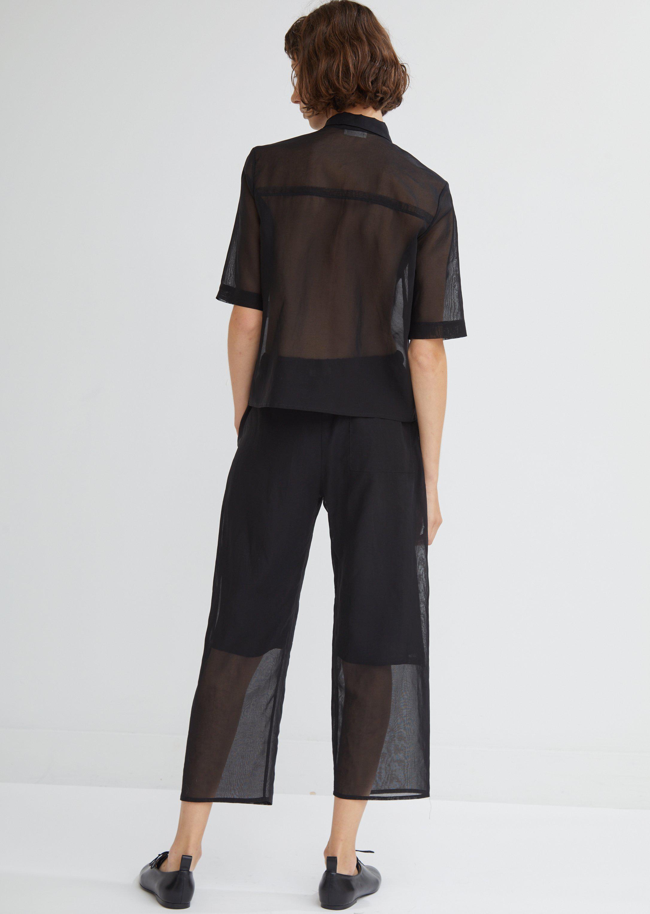 Moderne Silk Organdy Pant in Black