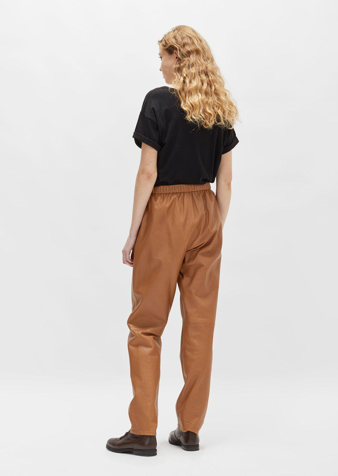 Dusan Leather Tapered Pants