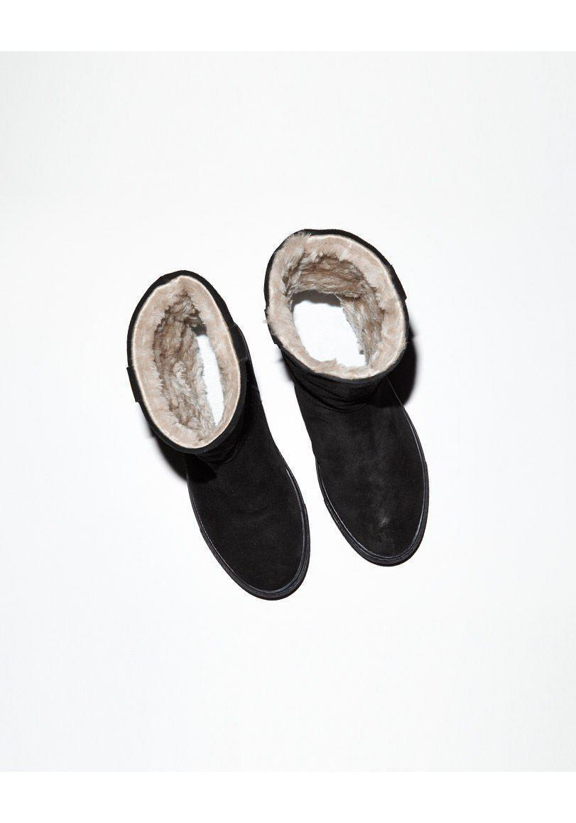 Common Projects Suede Sherpa Boot in Black