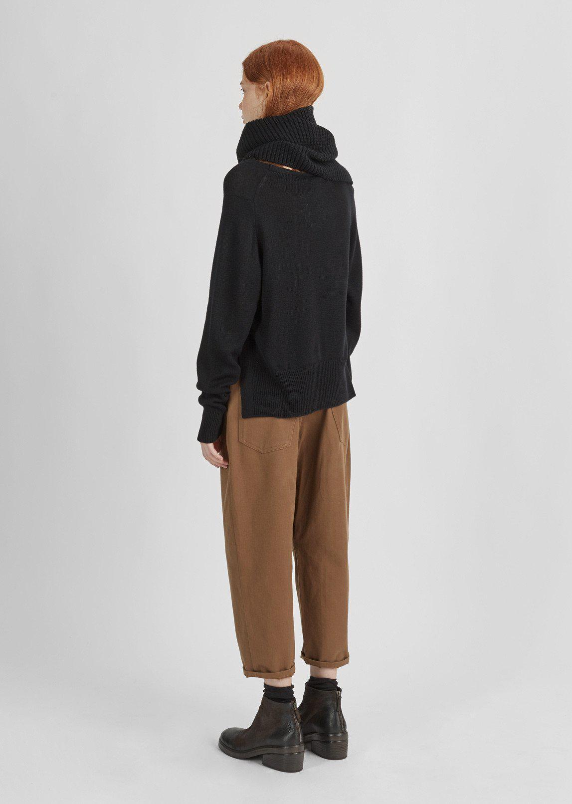 Y's Yohji Yamamoto Cotton Dropped Chino Pants in Brown